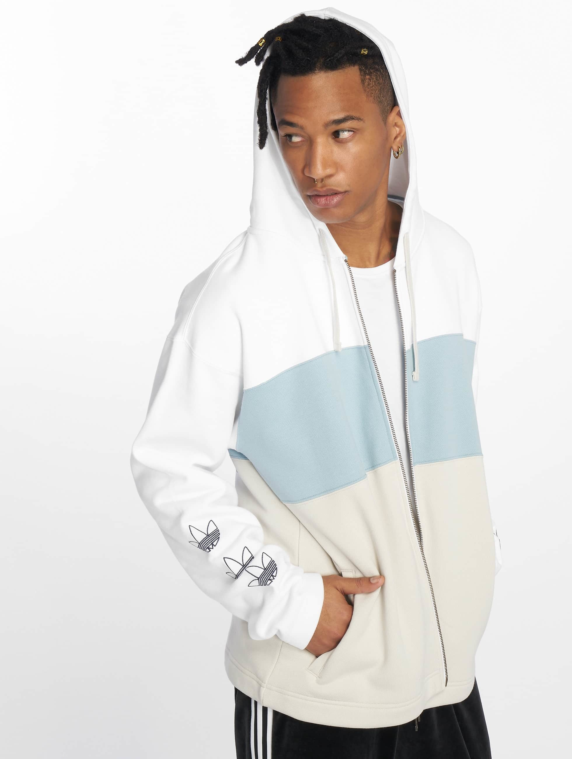 70ff51bd1e624 adidas originals | Full Zip blanc Homme Sweat capuche zippé 543588