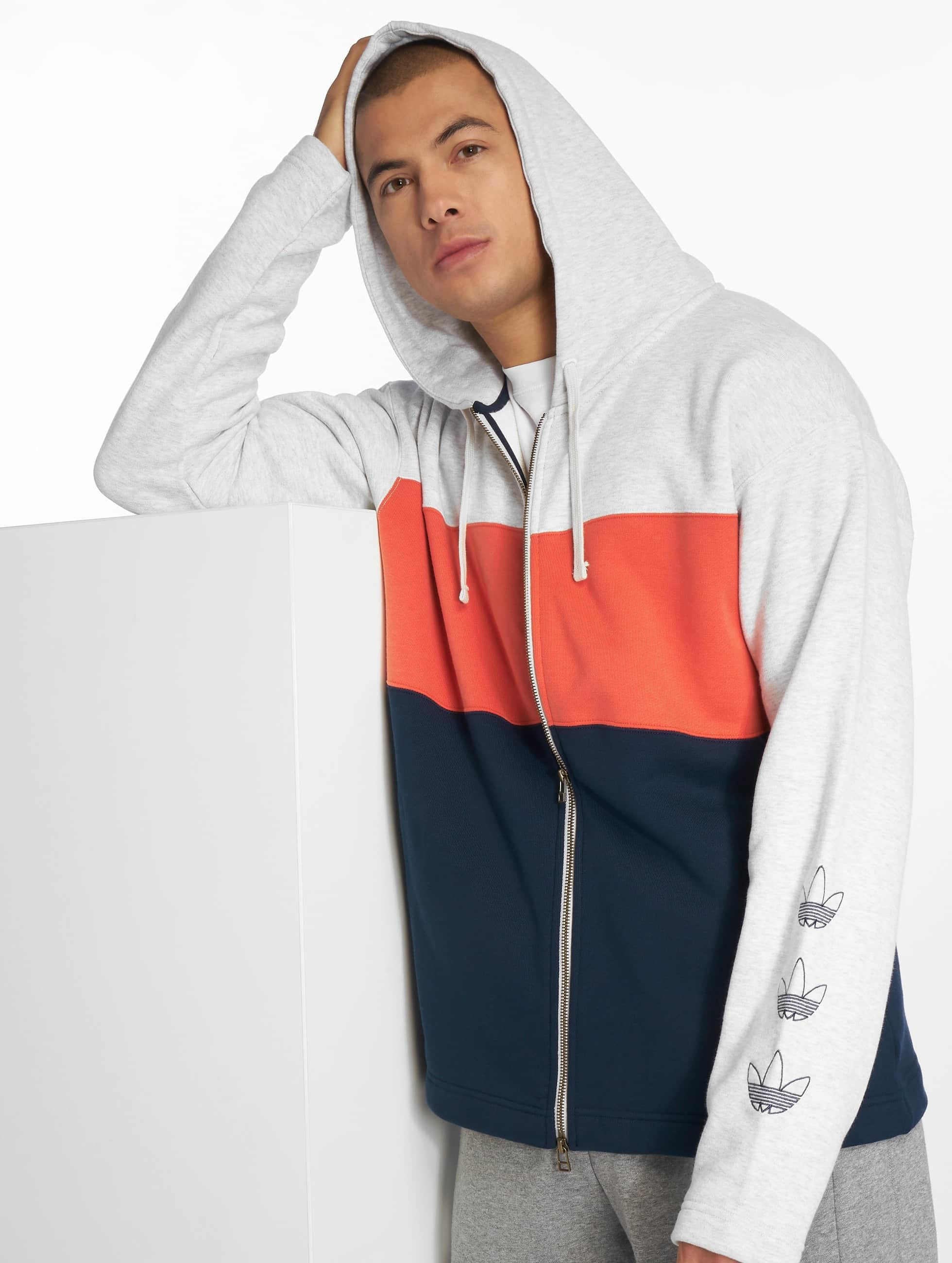 Adidas Originals Full Zip Hoody Light Grey Heather