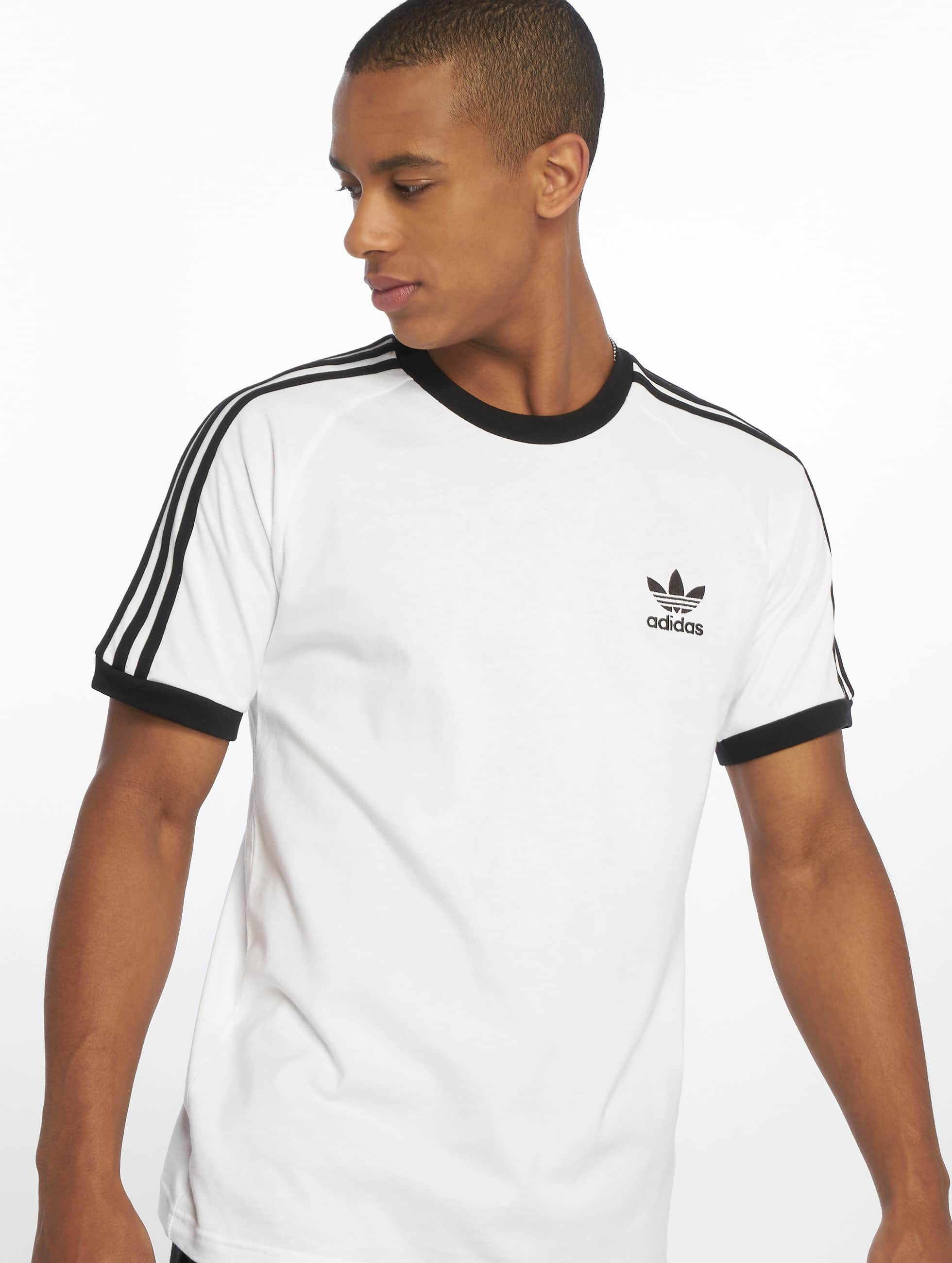 t-shirt adidas gris essentials 3-stripe blanche