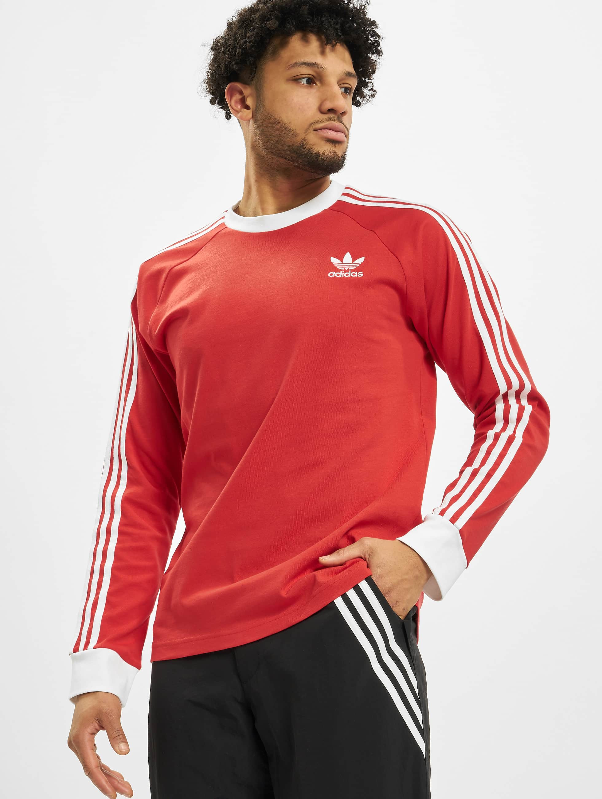 Adidas 3 Stripes Longsleeve Lush Red