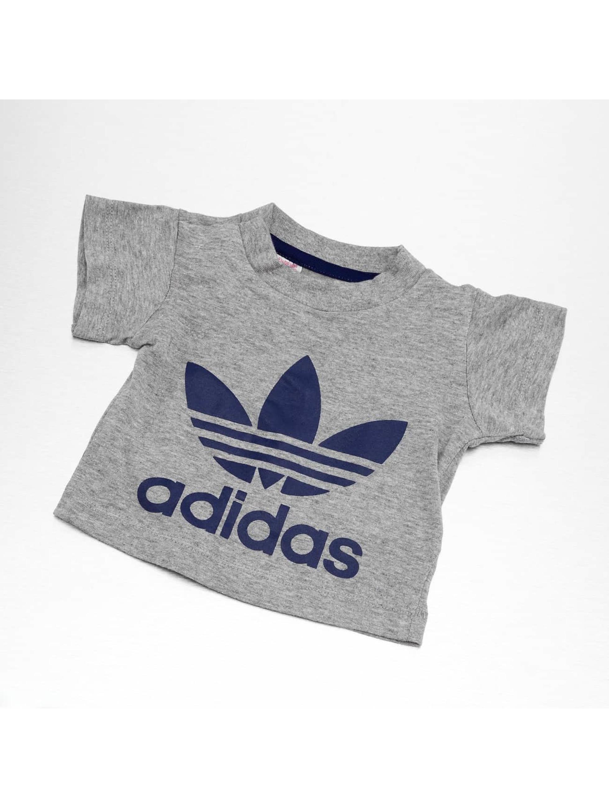 adidas originals Tričká I Trefoil šedá