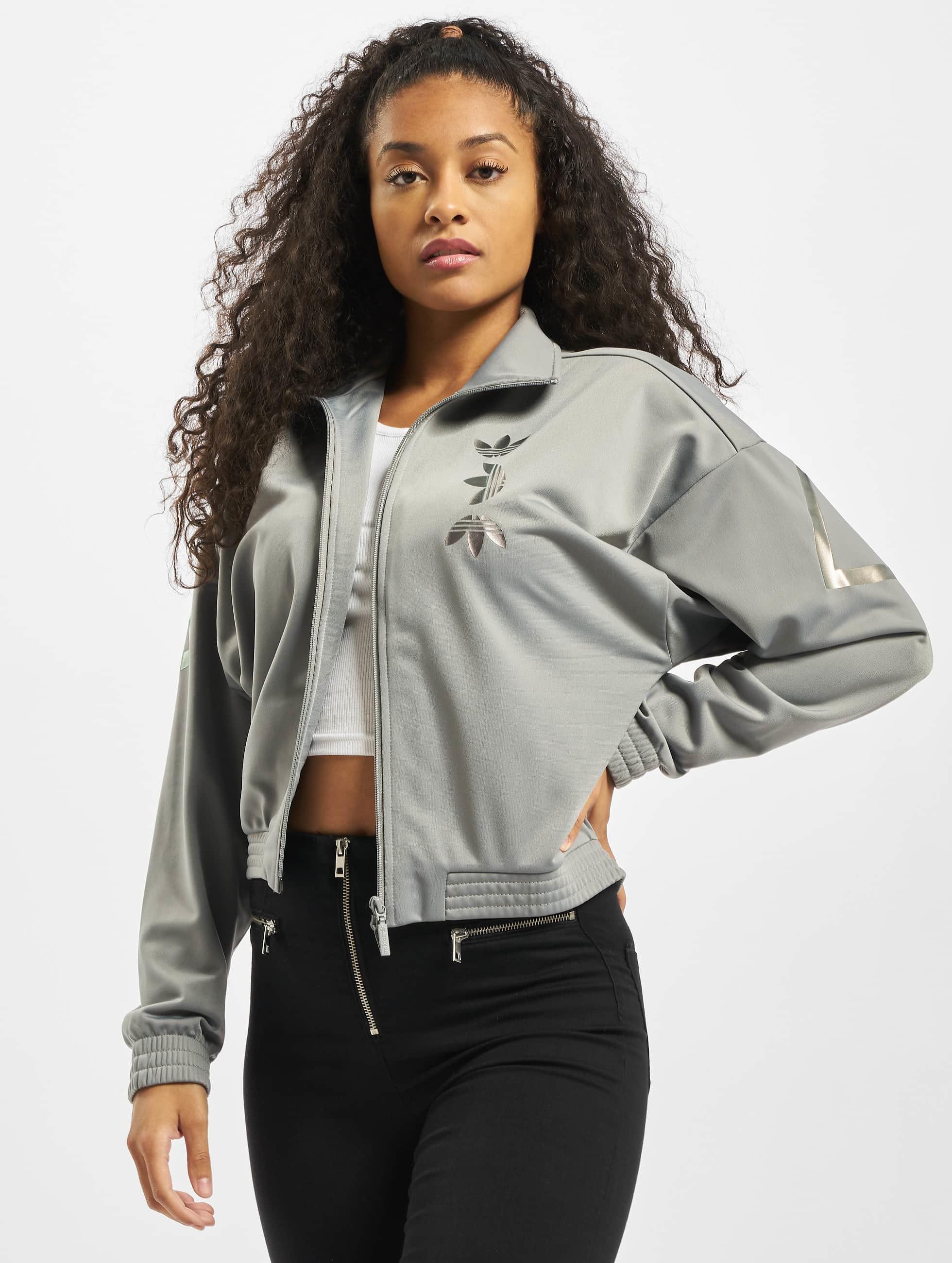 adidas Originals LRG Logo Track Jacket Ch Solid GreyTrue Pink