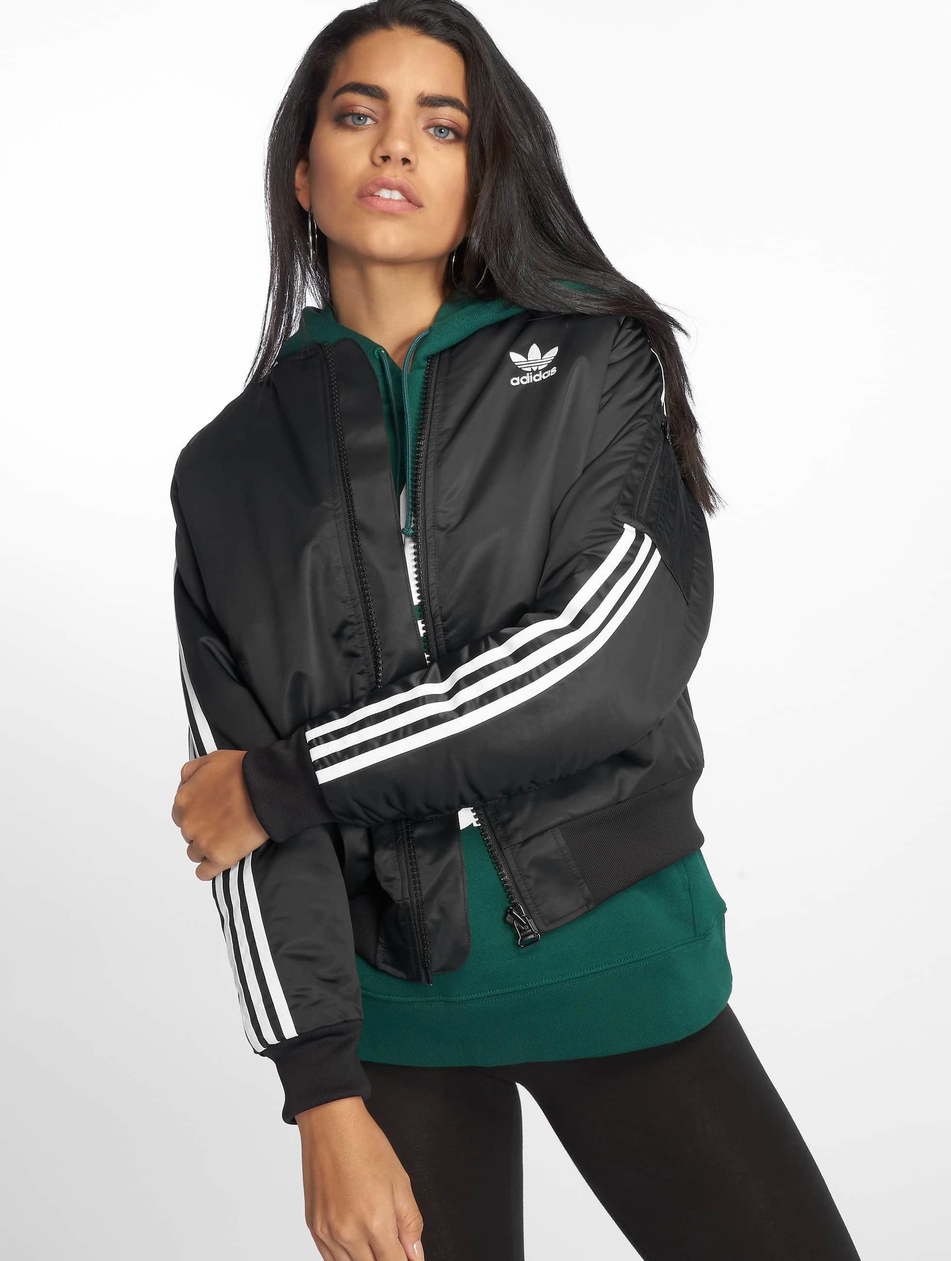 Dames Zomerjas Zwart.Adidas Originals Jas Zomerjas Bobmber In Zwart 543519