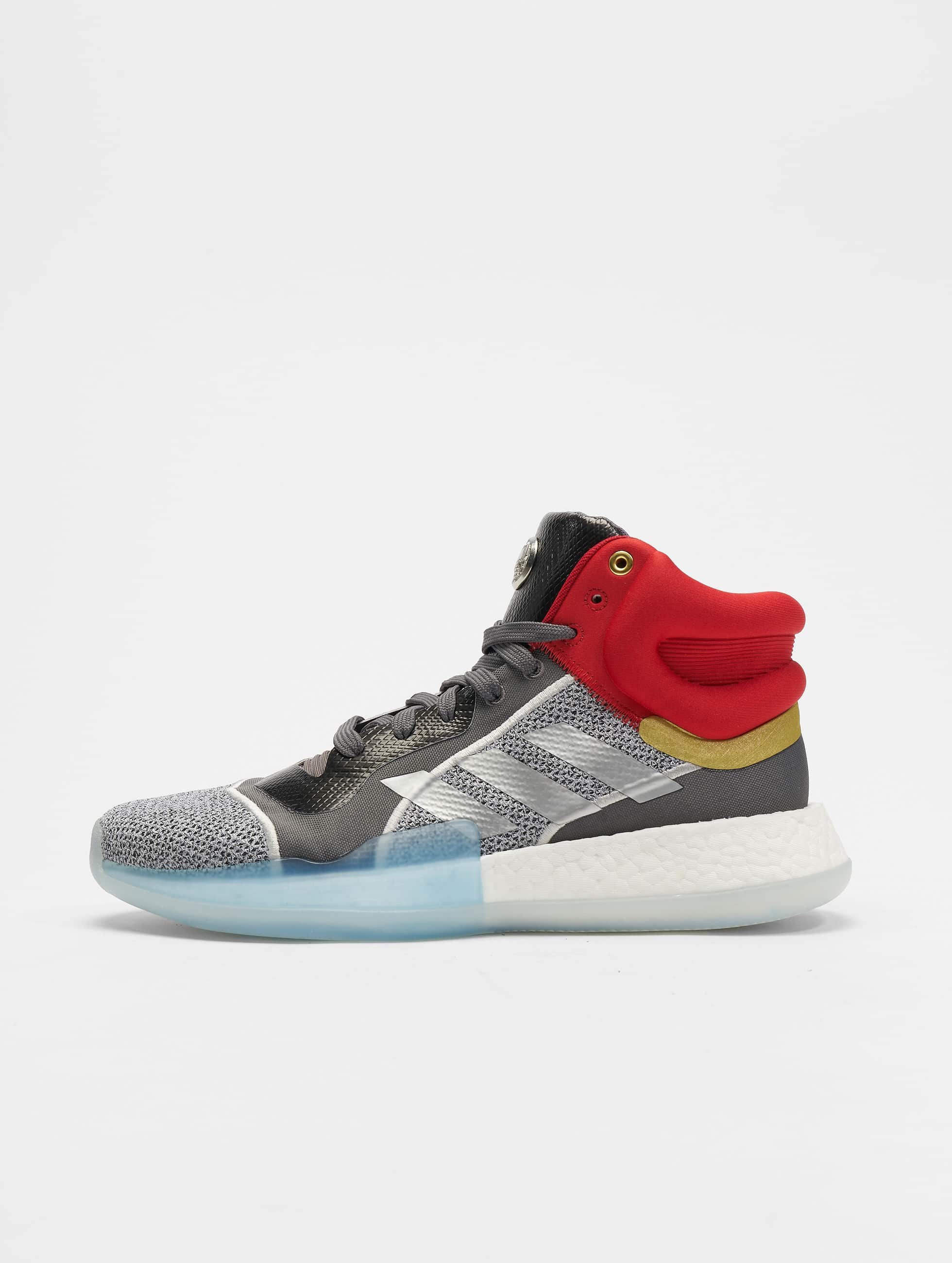 Adidas Marquee Boost Basketball Shoes Ftwr WhiteSilvern MetGrey One