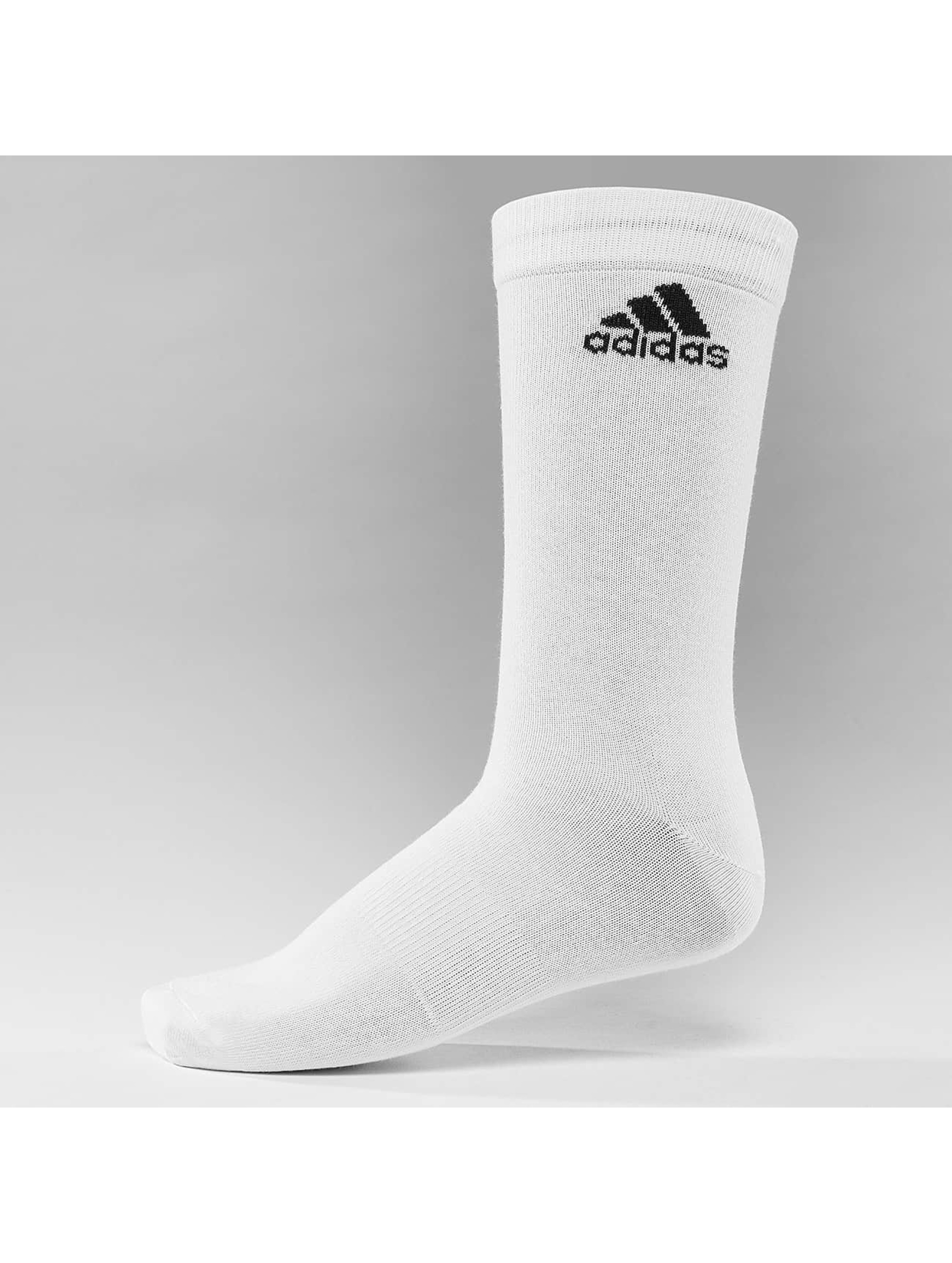 adidas Performance Chaussettes Performance 3-Stripes Crew blanc