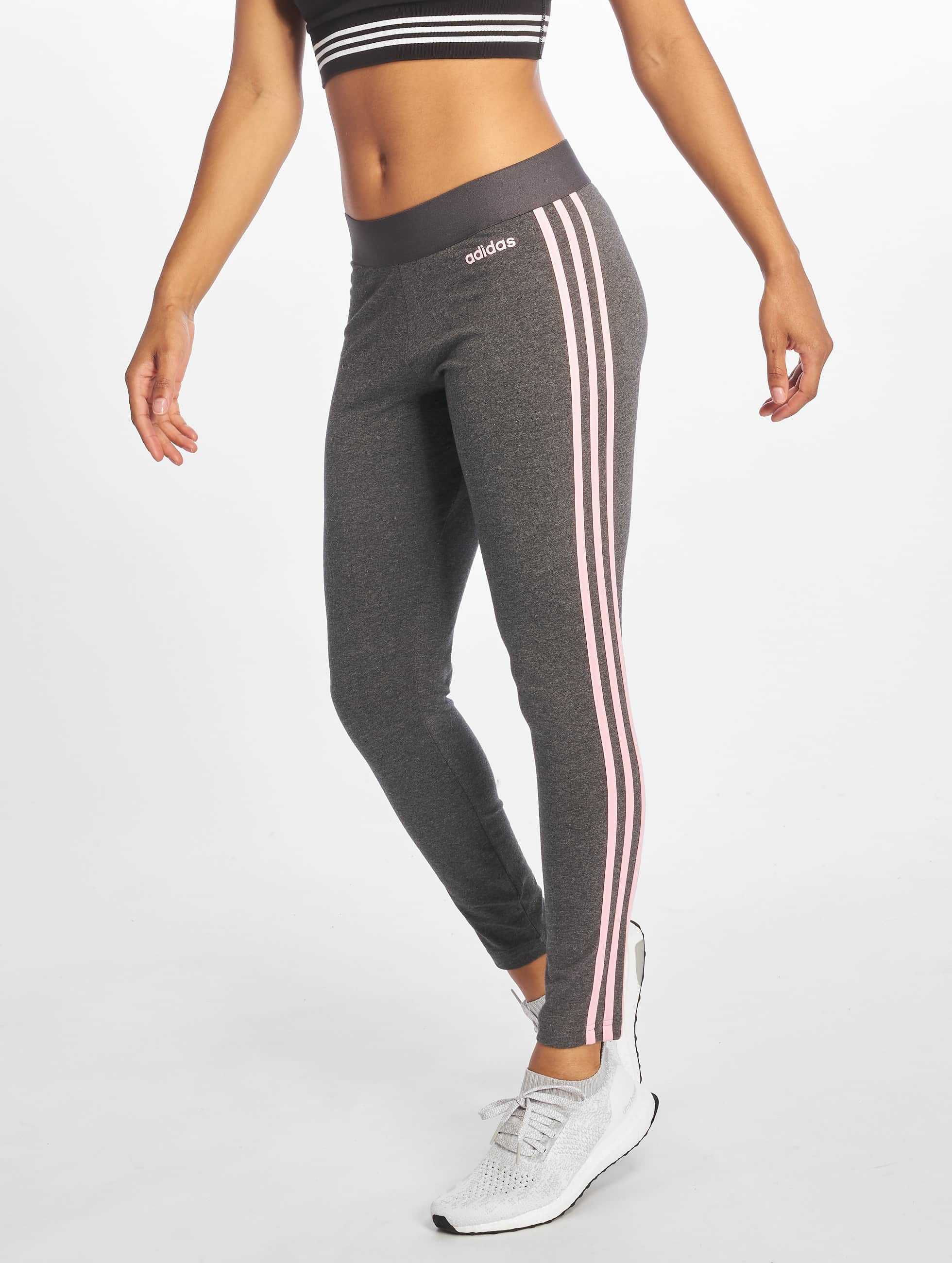adidas 3S Leggings Dark Grey/True Pink