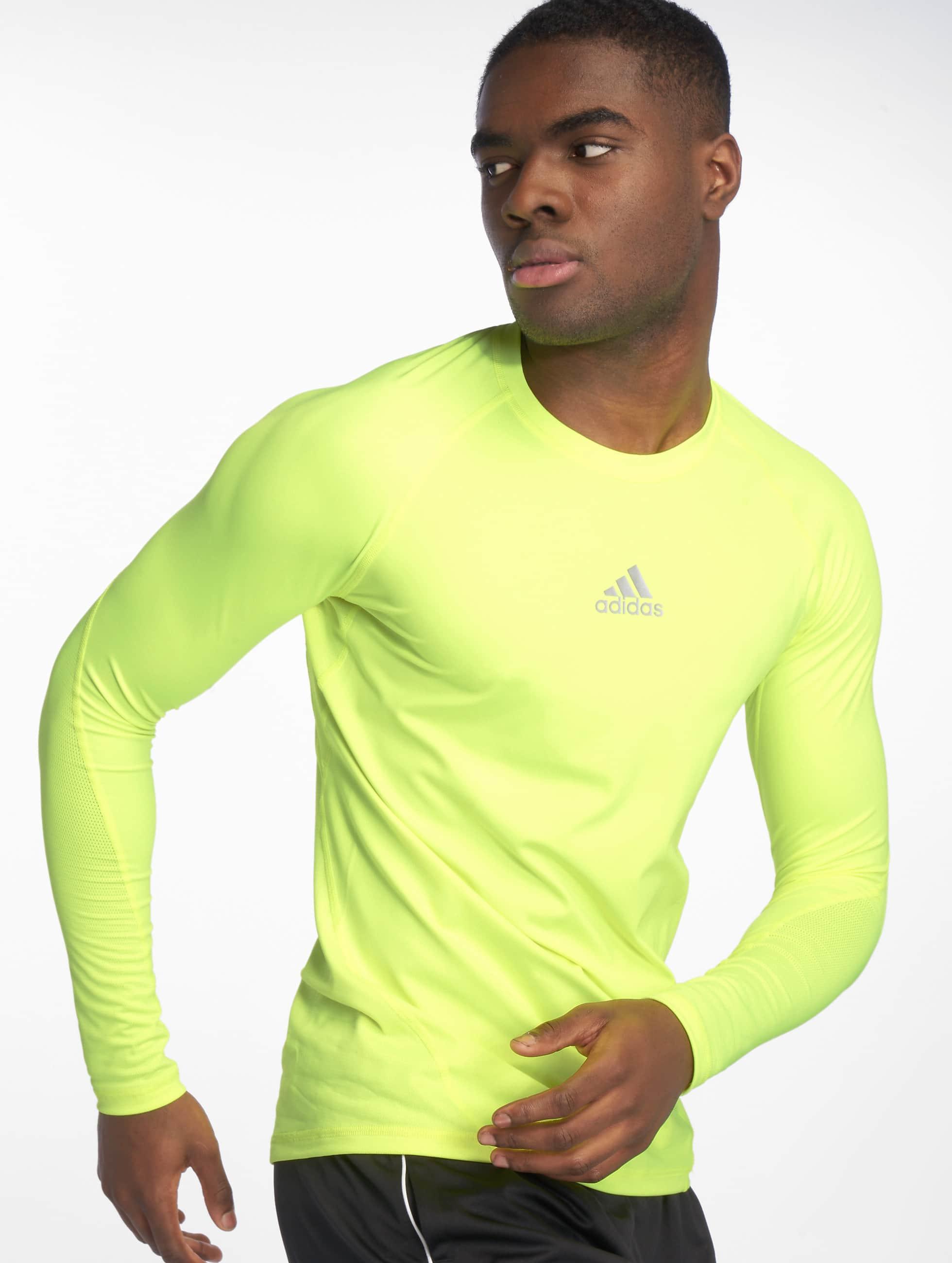 Adidas Alphaskin Alphaskin Longsleeve Adidas Yellow Solar Longsleeve nwk8P0O