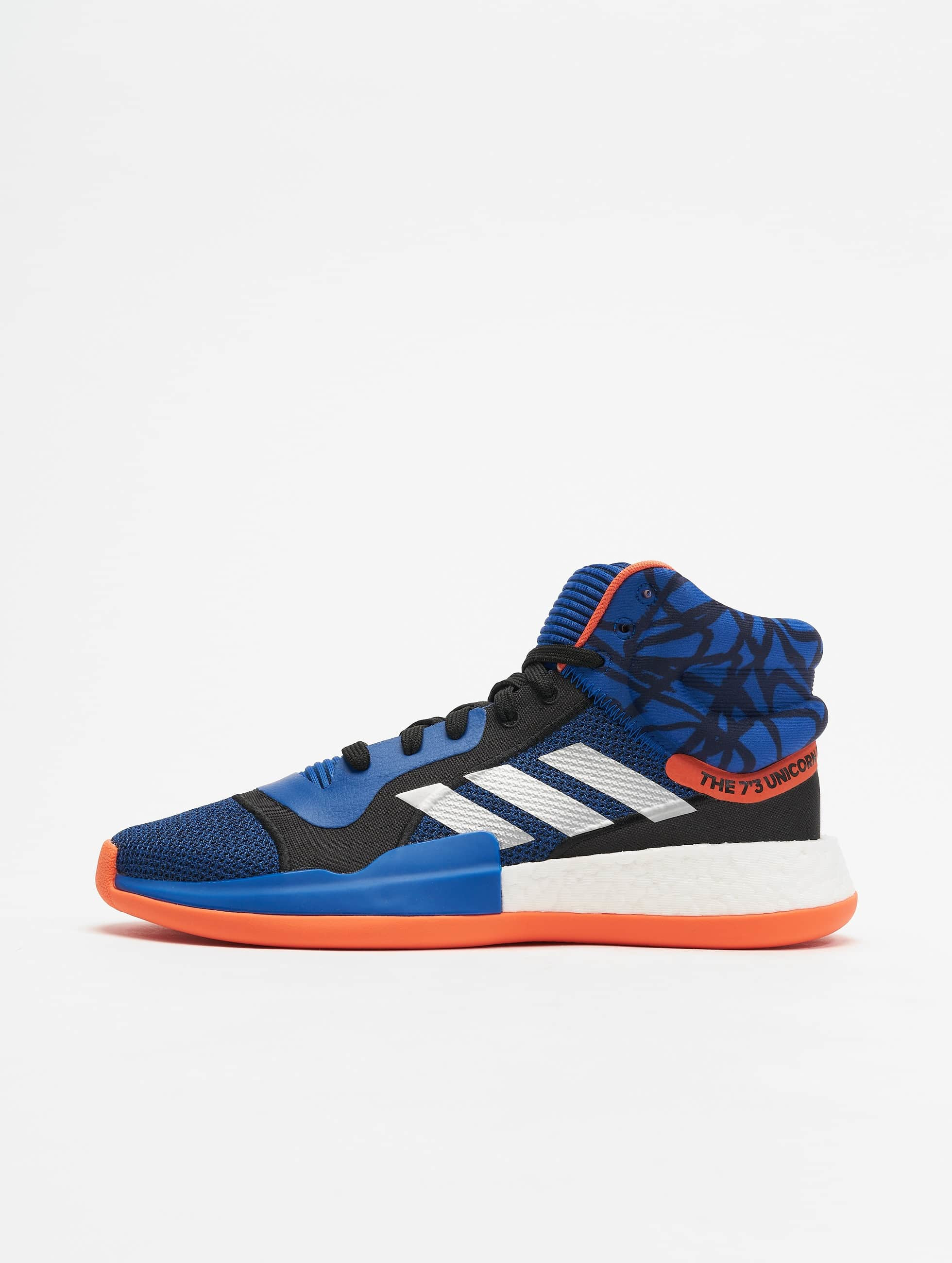 adidas Marquee Boost Basketball Shoes Core RoyalCore BlackTrue Orange