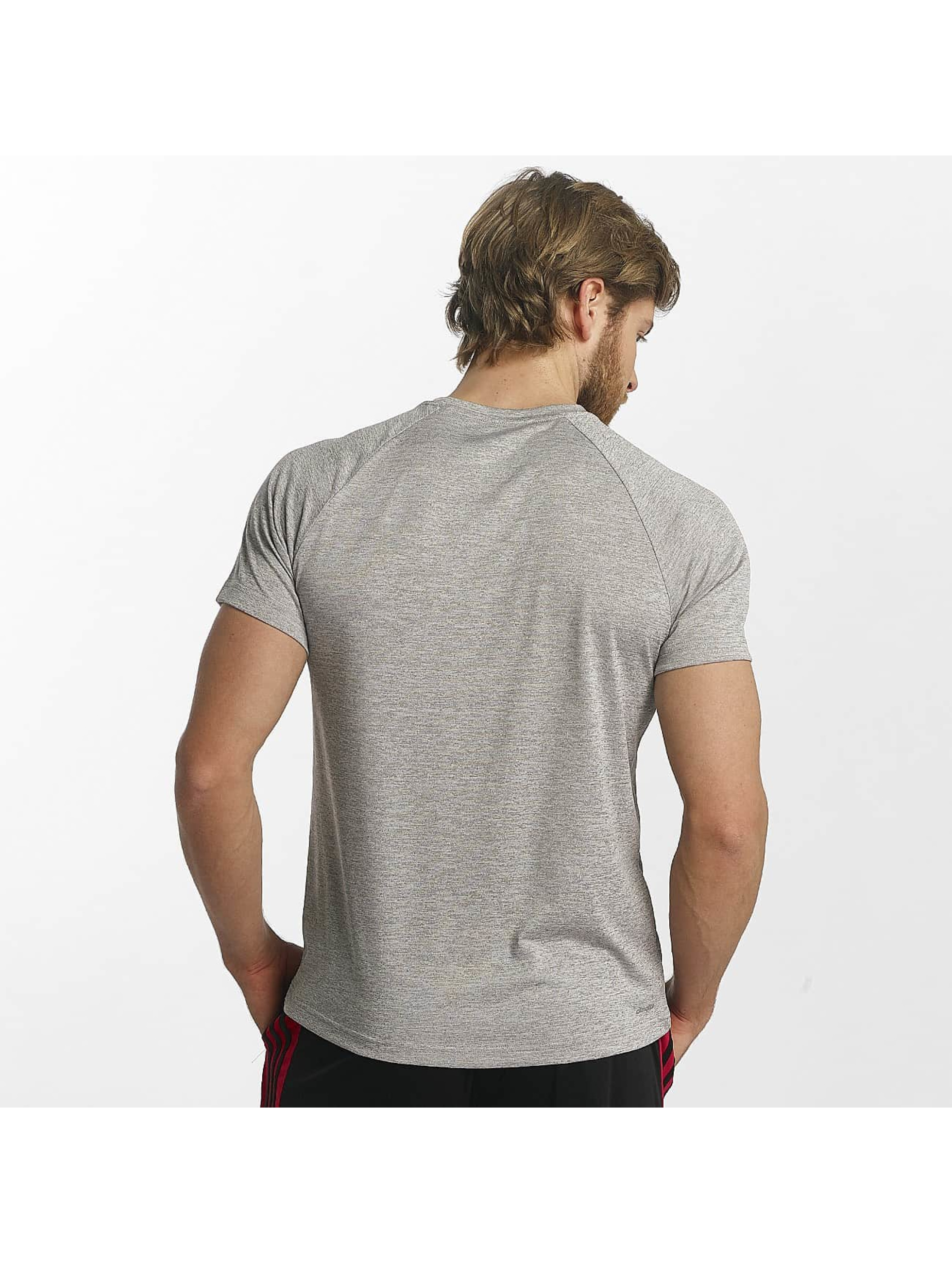 adidas Performance T-Shirt D2M Heathered gris