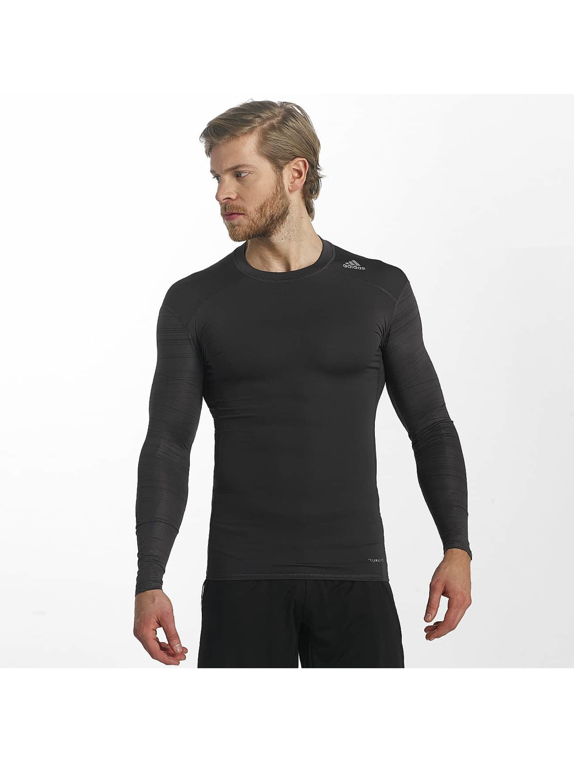 adidas Performance T-Shirt manches longues Techfit Base noir