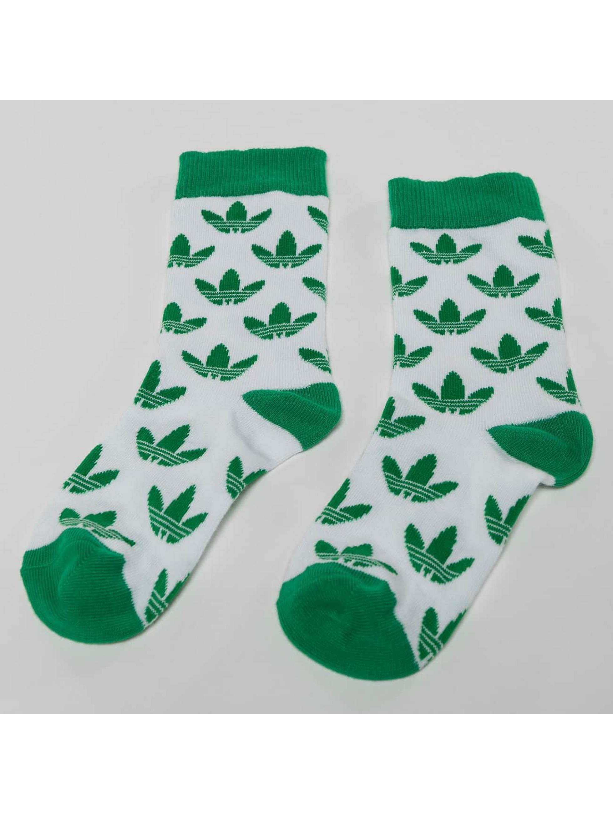 adidas Ponožky Trefoil Thin Crew biela
