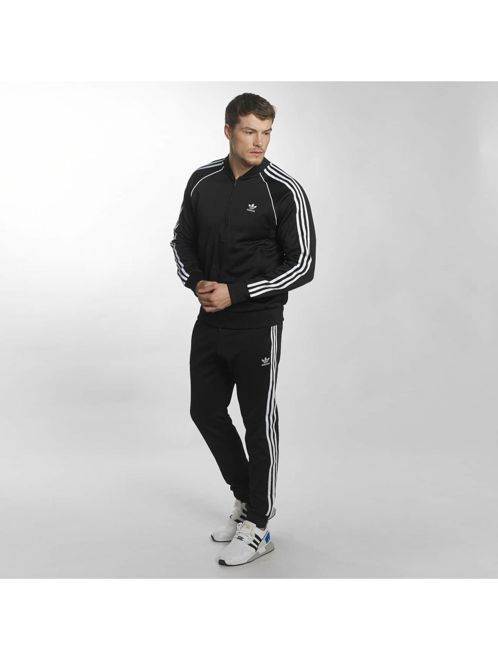 adidas Prechodné vetrovky Superstar èierna