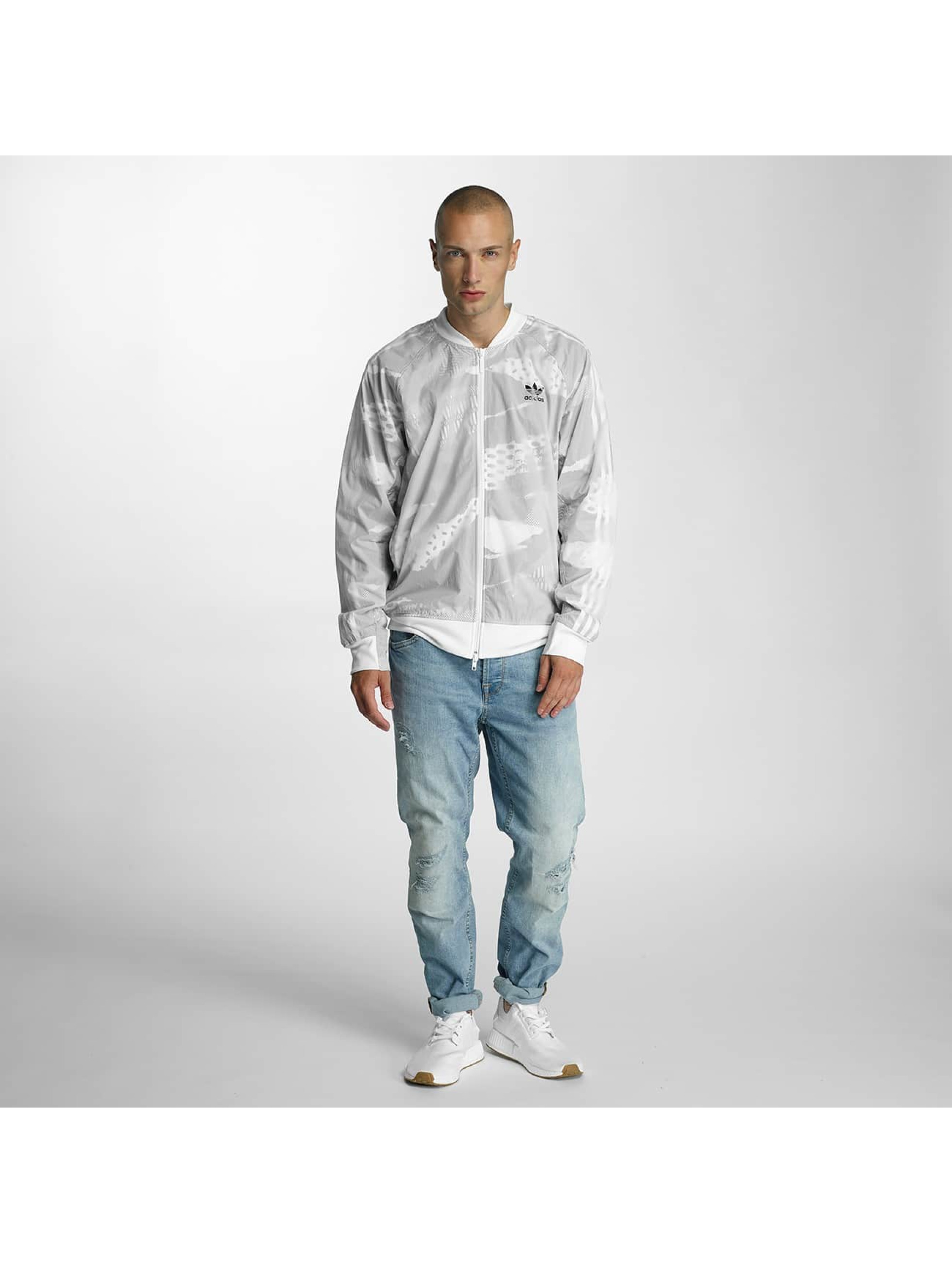 adidas Prechodné vetrovky LA biela