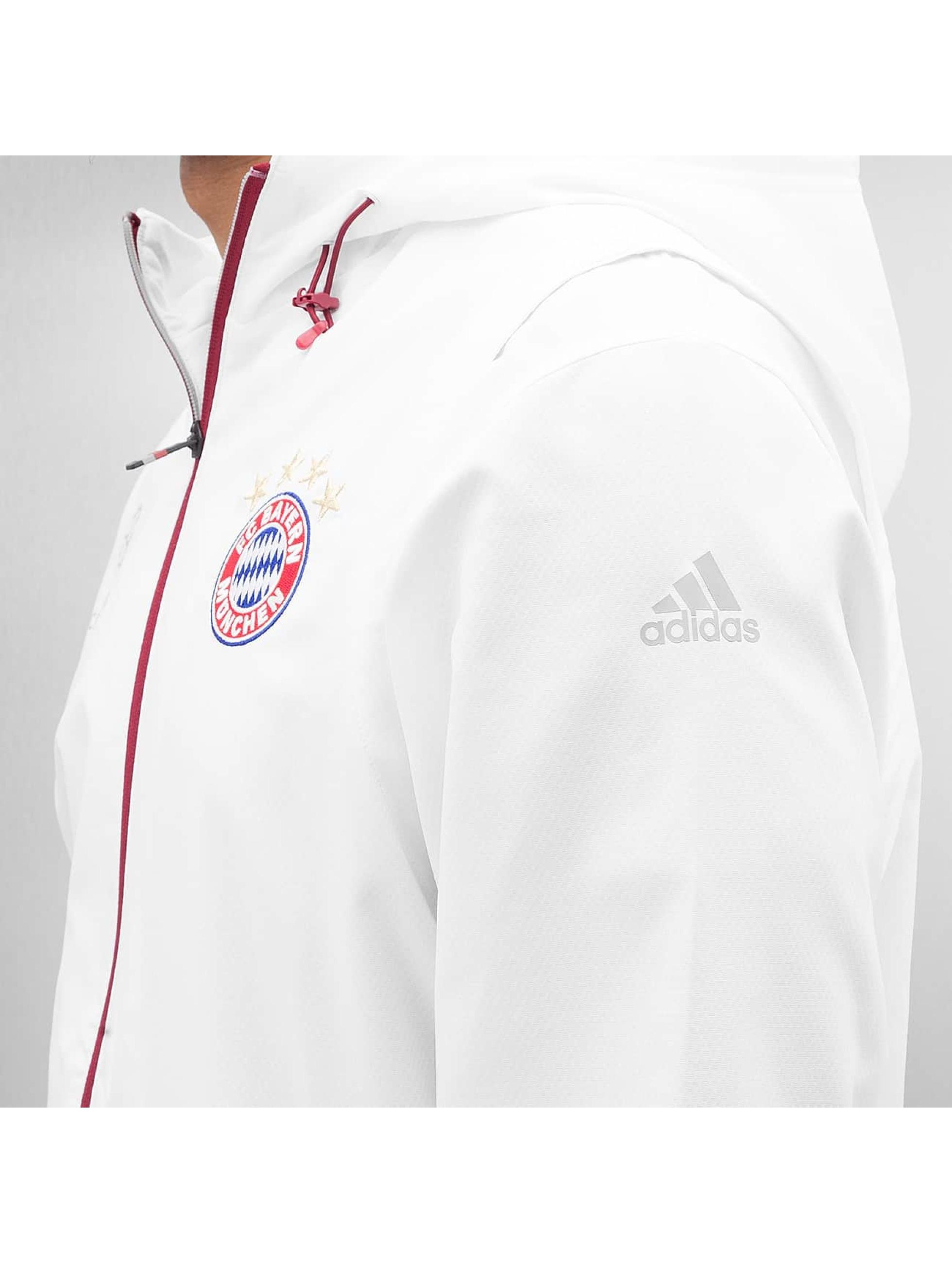 adidas Prechodné vetrovky FC Bayern München biela