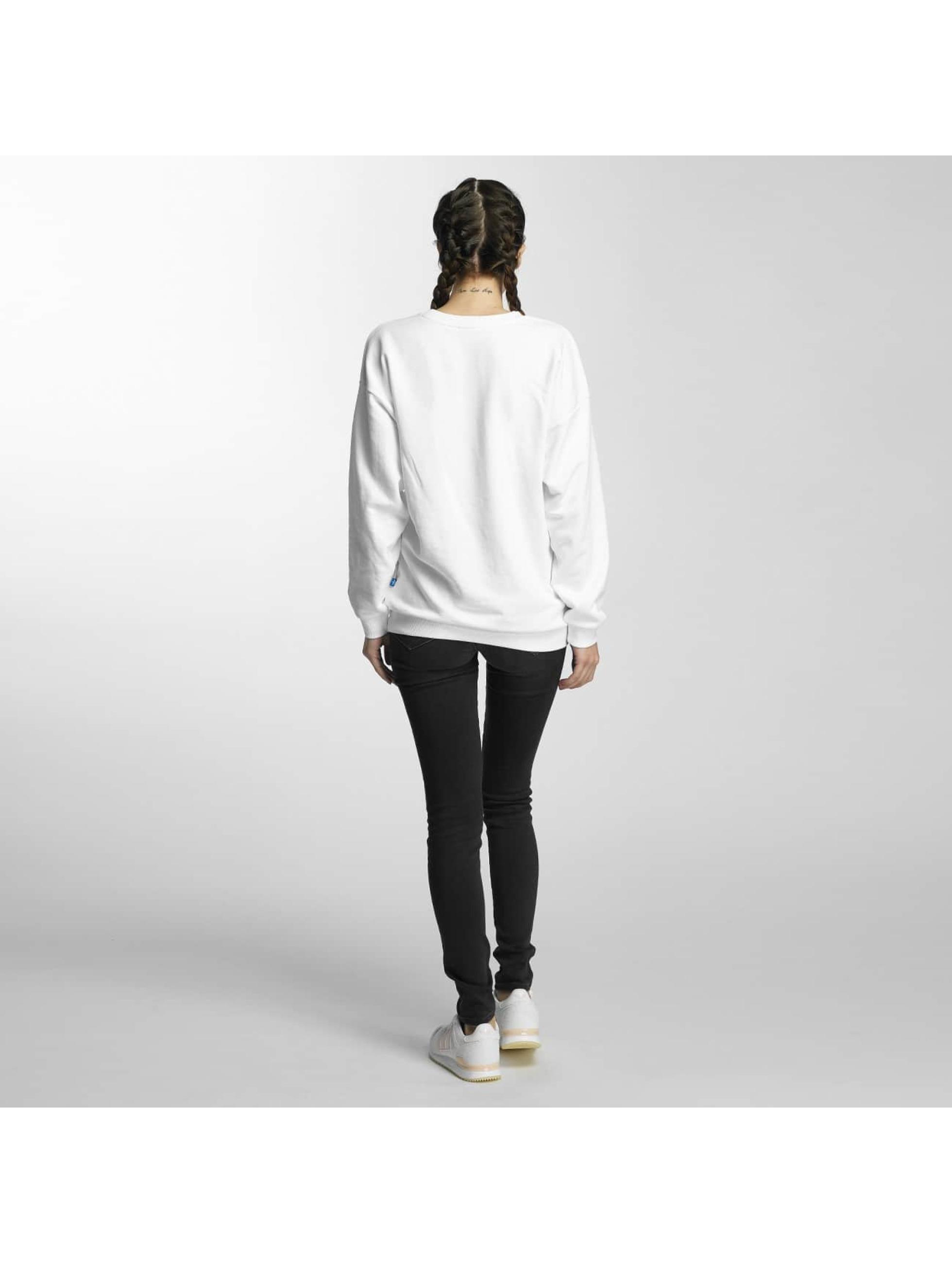 adidas Pulóvre Trefoil biela