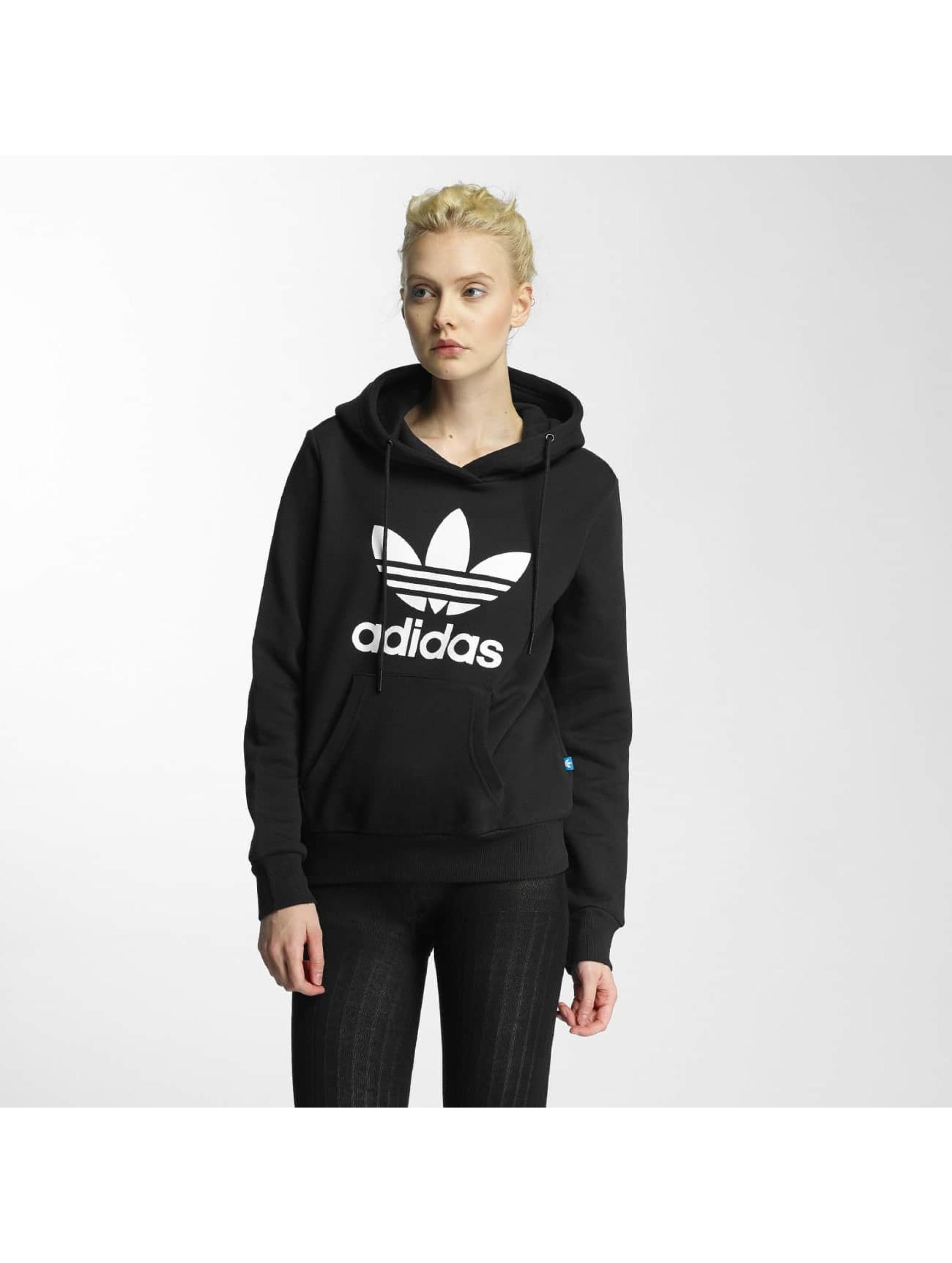adidas Trefoil Logo noir Sweat capuche femme