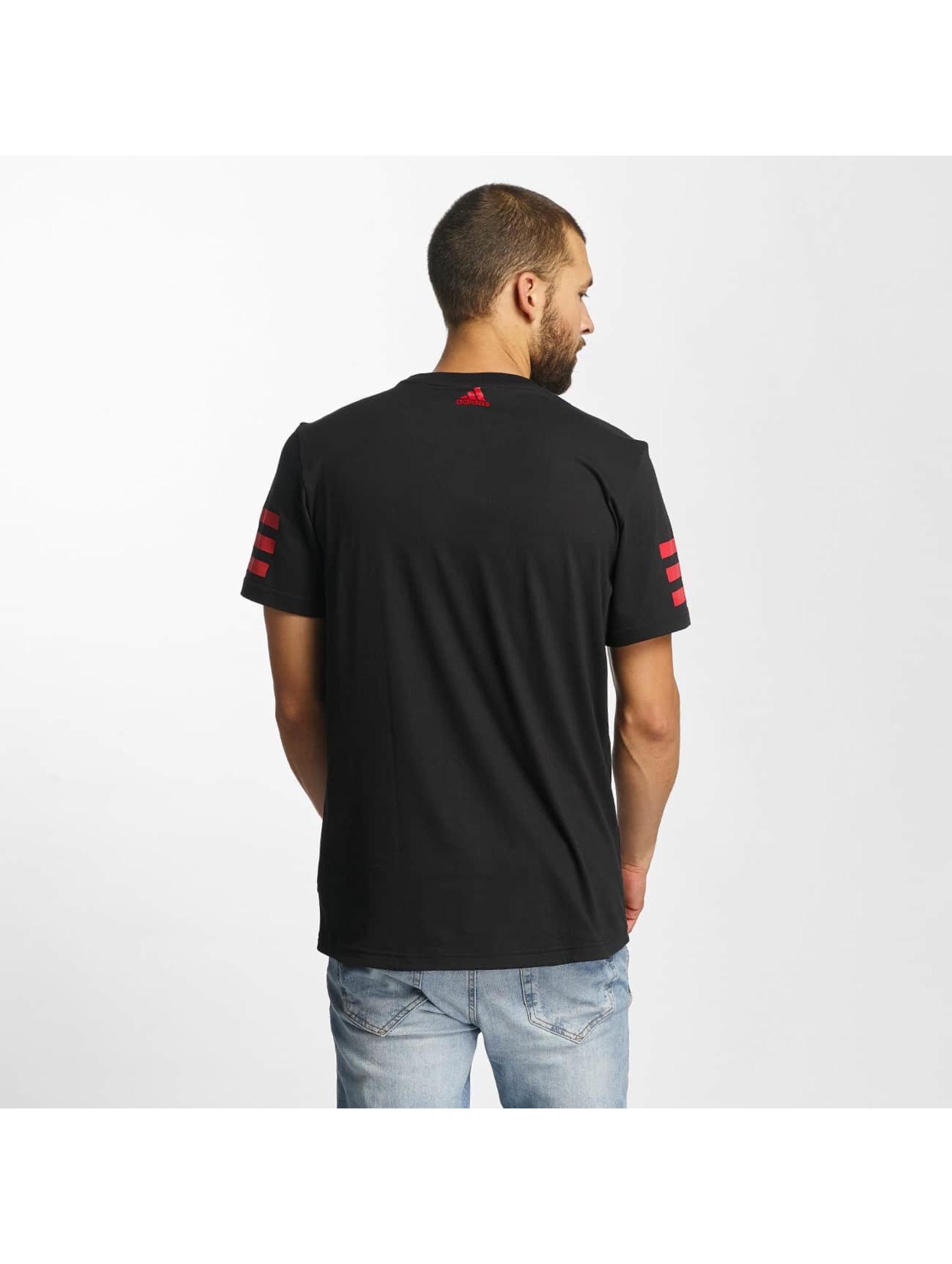adidas T-Shirt Dame Stripe black