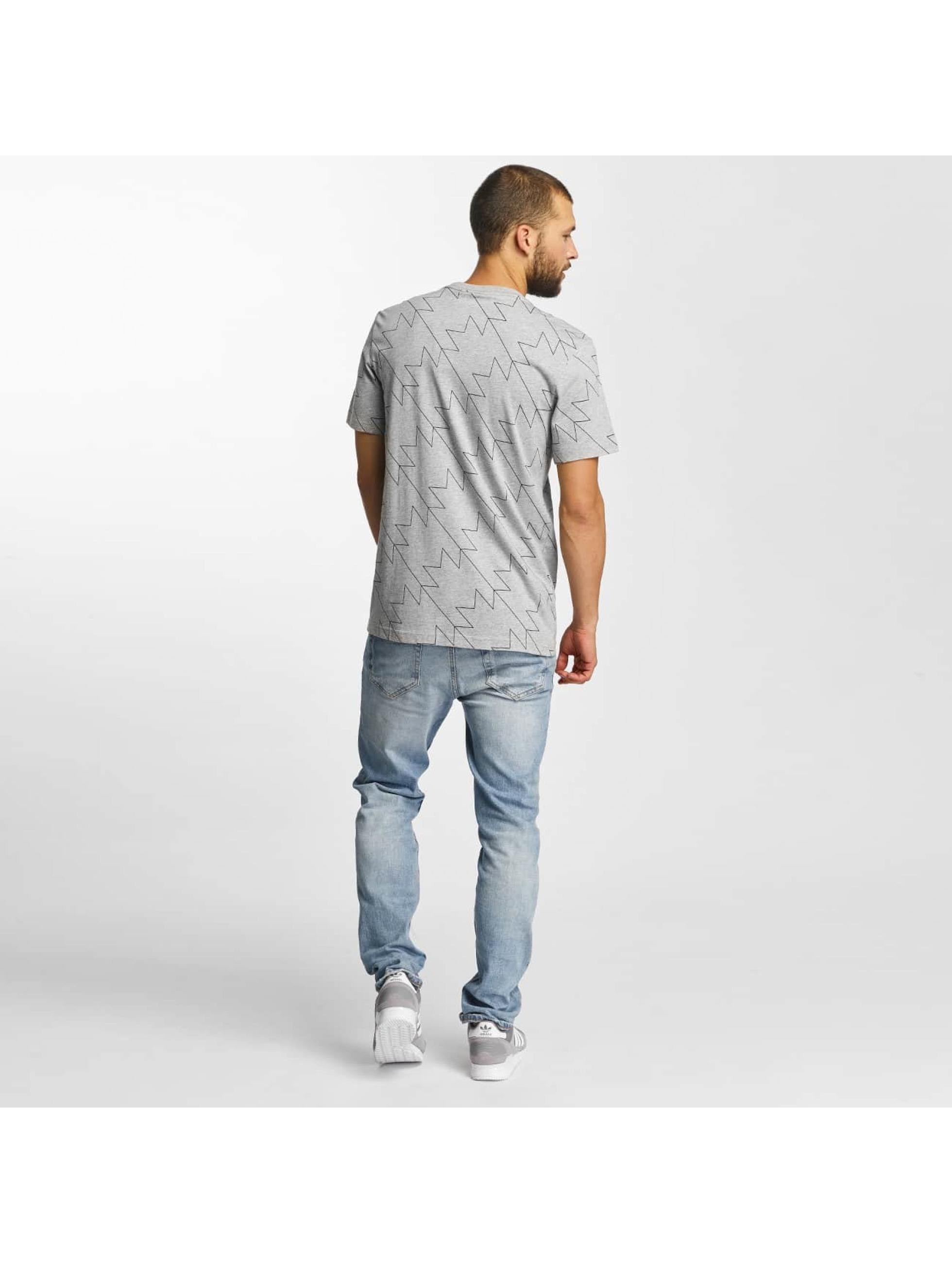 adidas T-Shirt Trefoil AOP grau