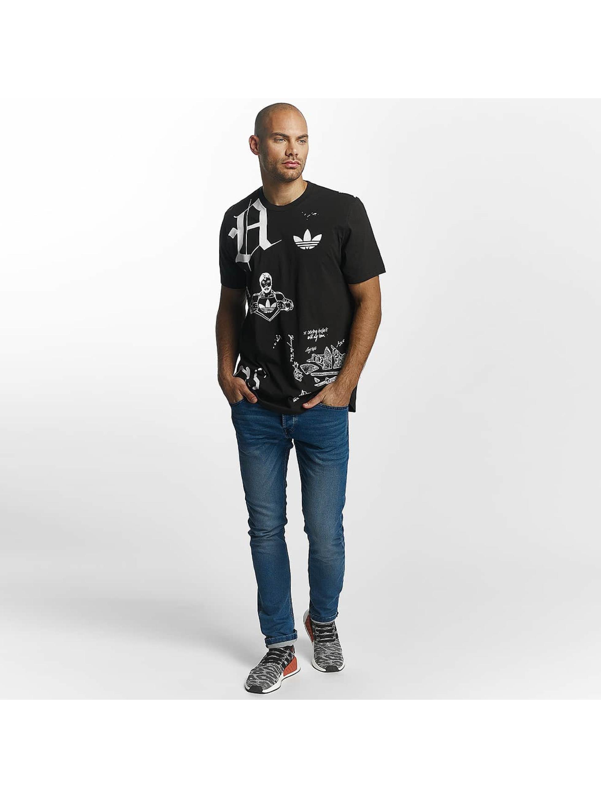 adidas T-Shirt Off Placement noir