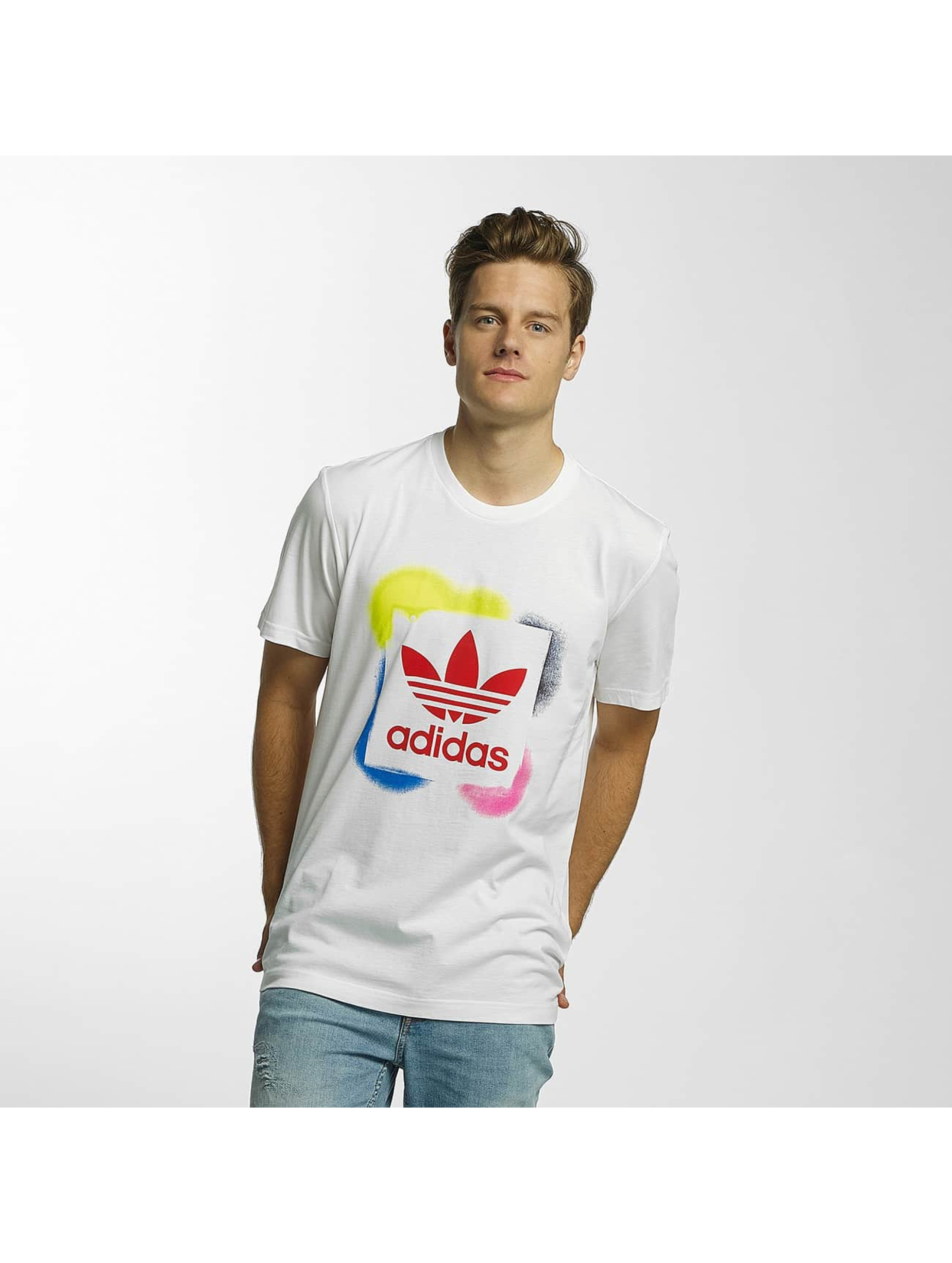 adidas T-Shirty Rectangle 1 bialy