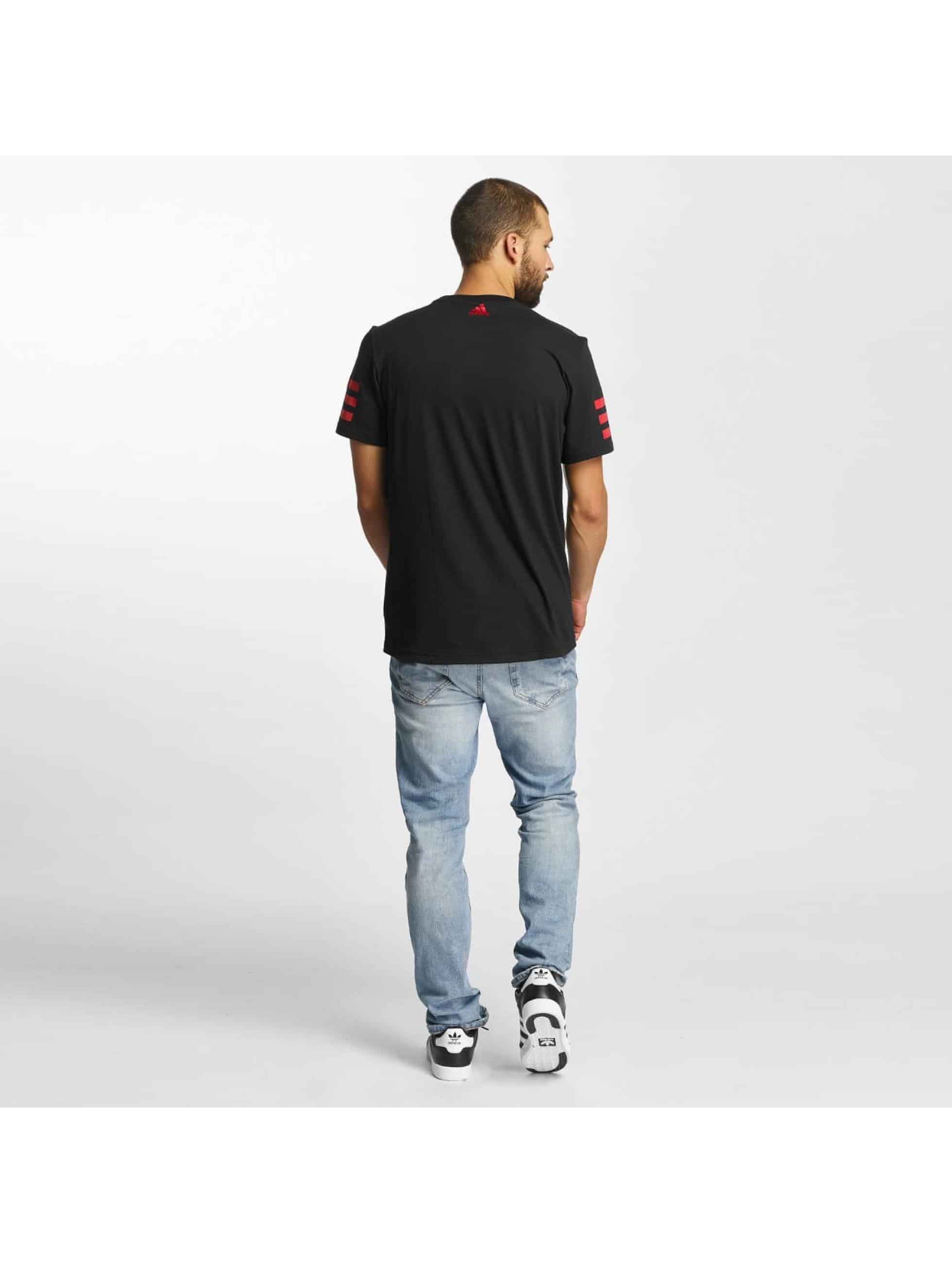 adidas T-Shirty Dame Stripe czarny