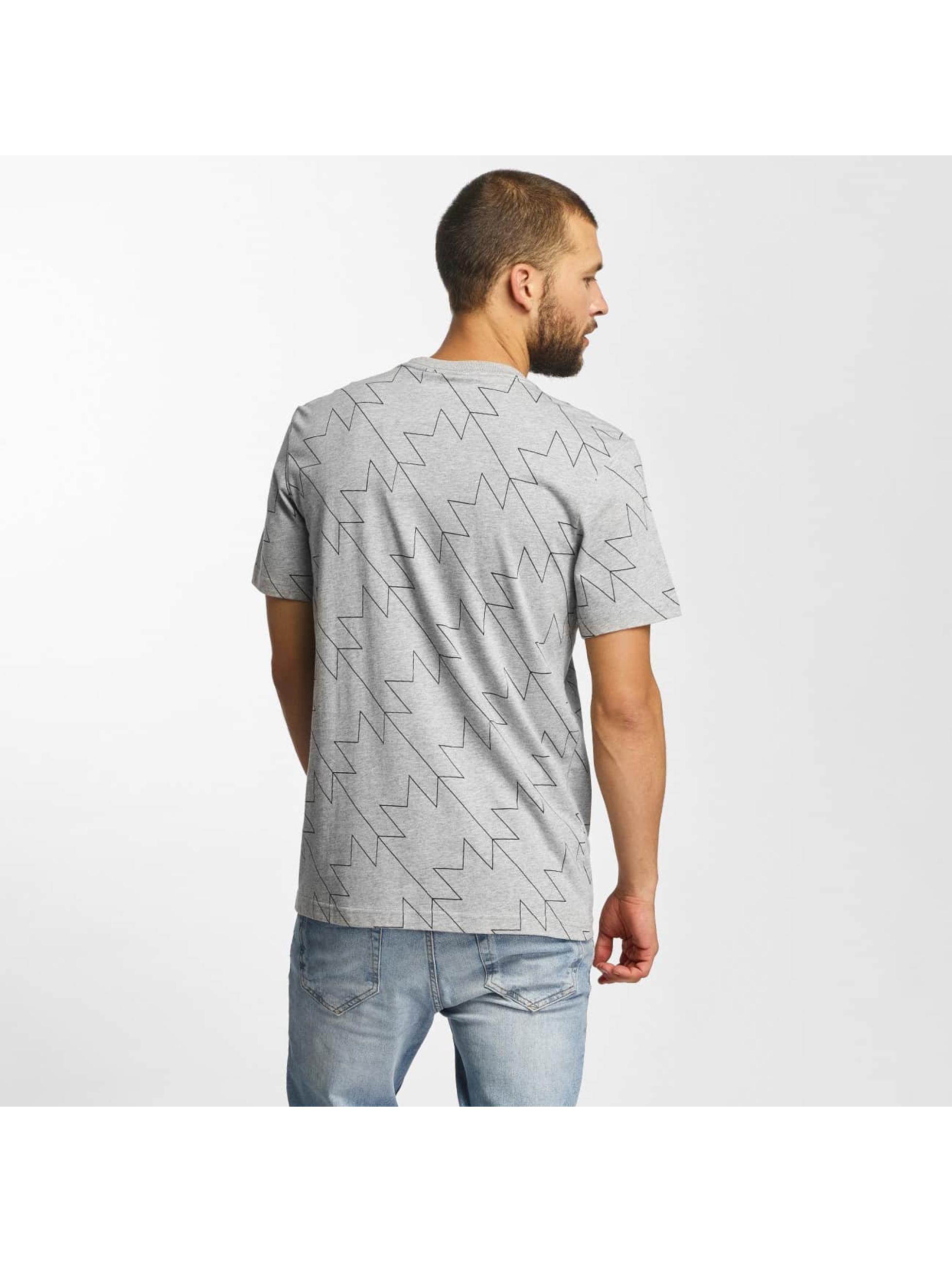 adidas T-Shirty Trefoil AOP szary