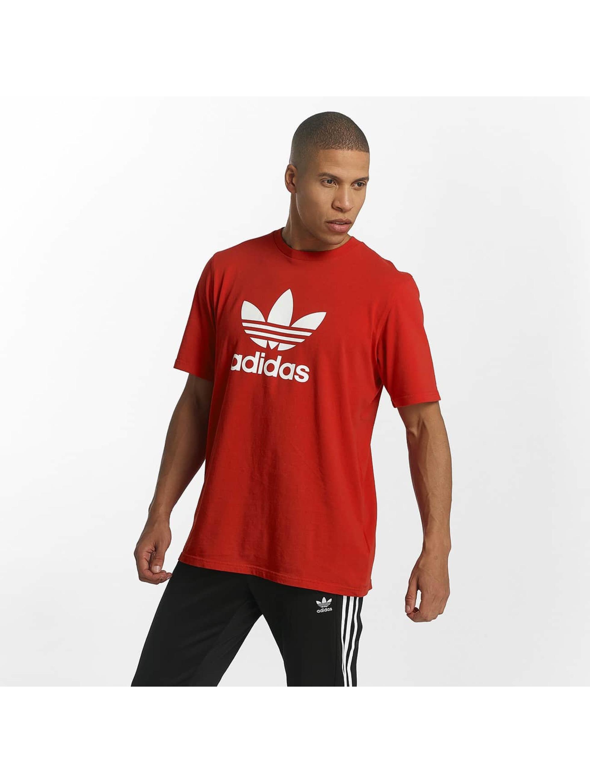 adidas T-skjorter Trefoil red