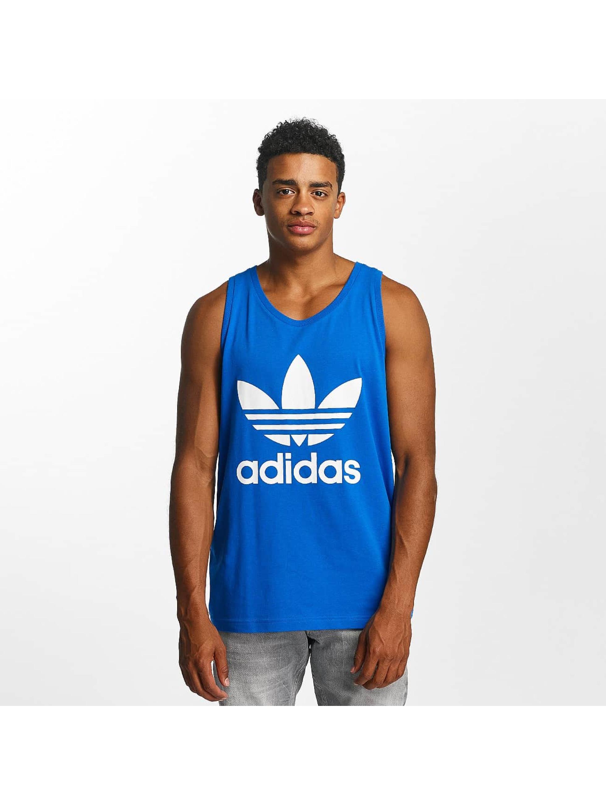 adidas Tank Tops Trefoil niebieski