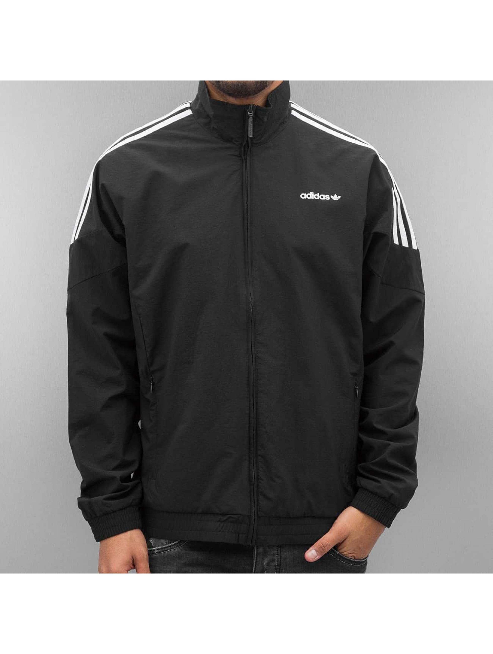 Schwarz Roten Beliebte Trainingsjacke – Streifen Mit Jacken