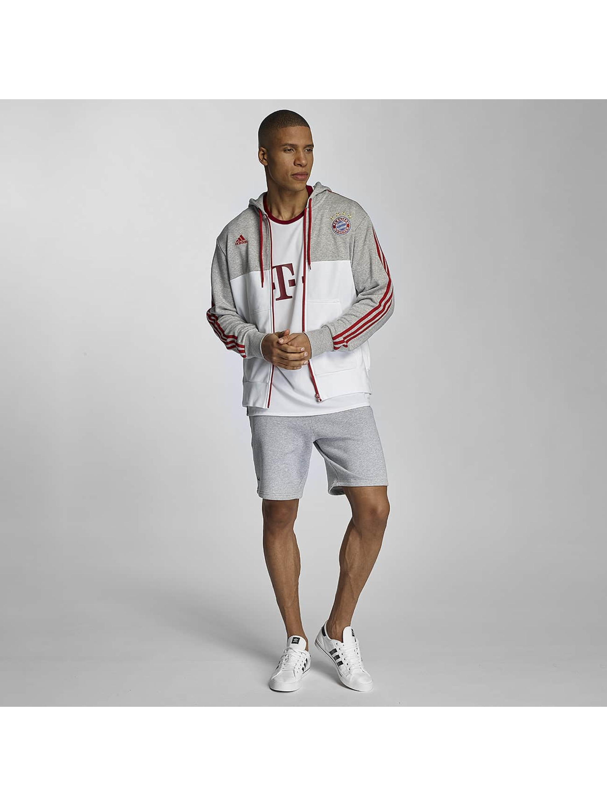 adidas Zip Hoodie FC Bayern München grau