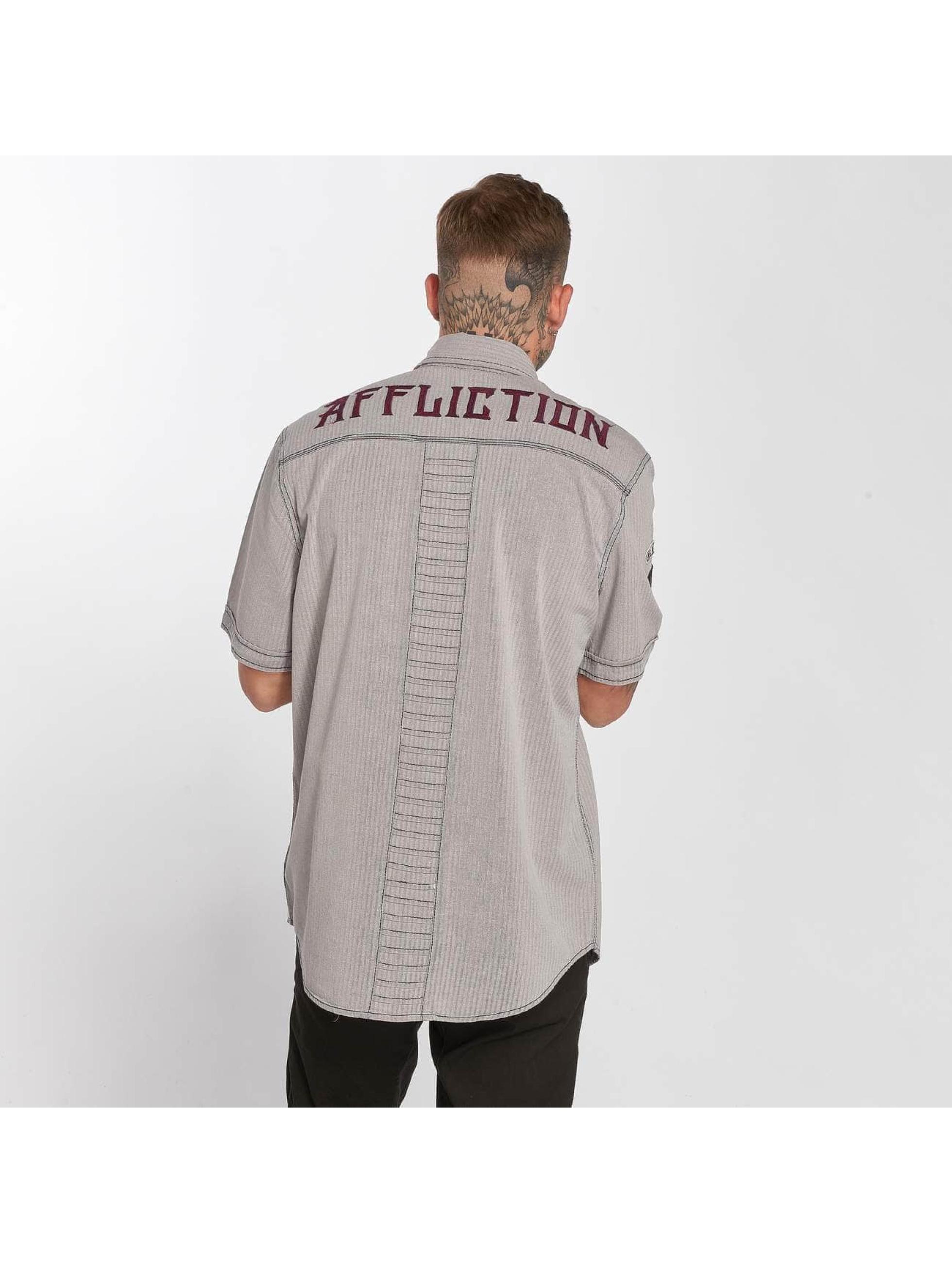 Affliction Hemd Tribbett grau