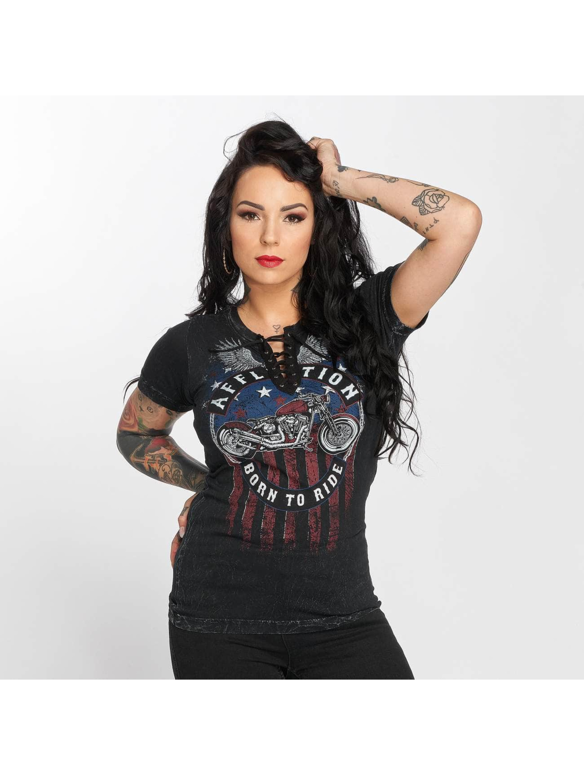 Affliction T-Shirt A Frame noir