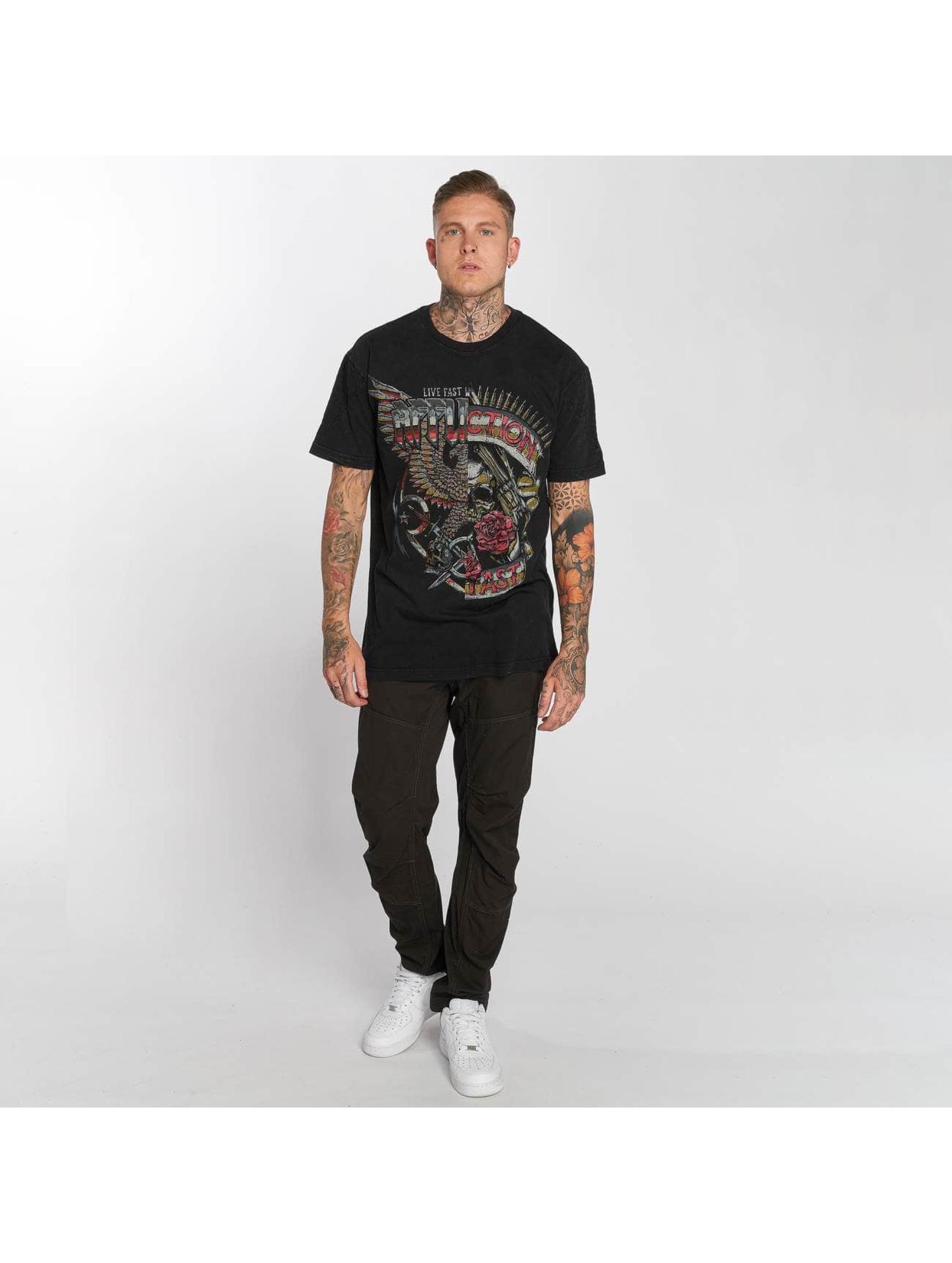 Affliction T-Shirt Metal Split schwarz