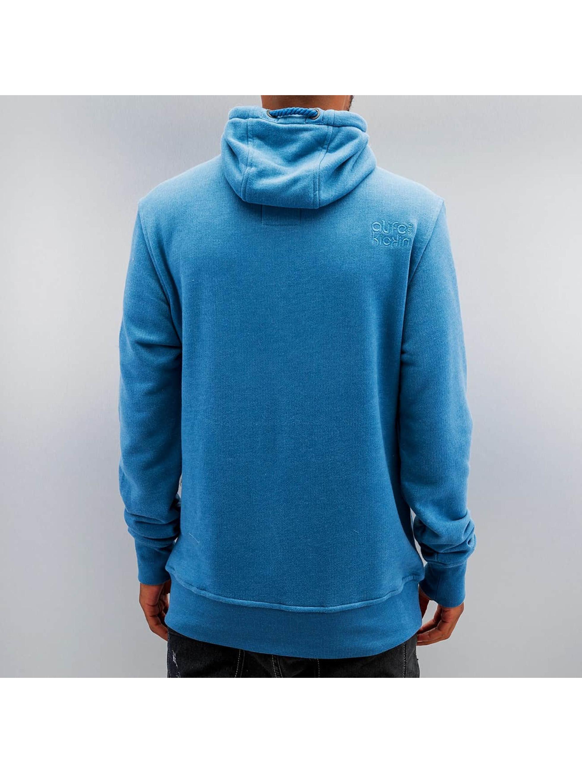 Alife & Kickin Bluzy z kapturem Johnson niebieski