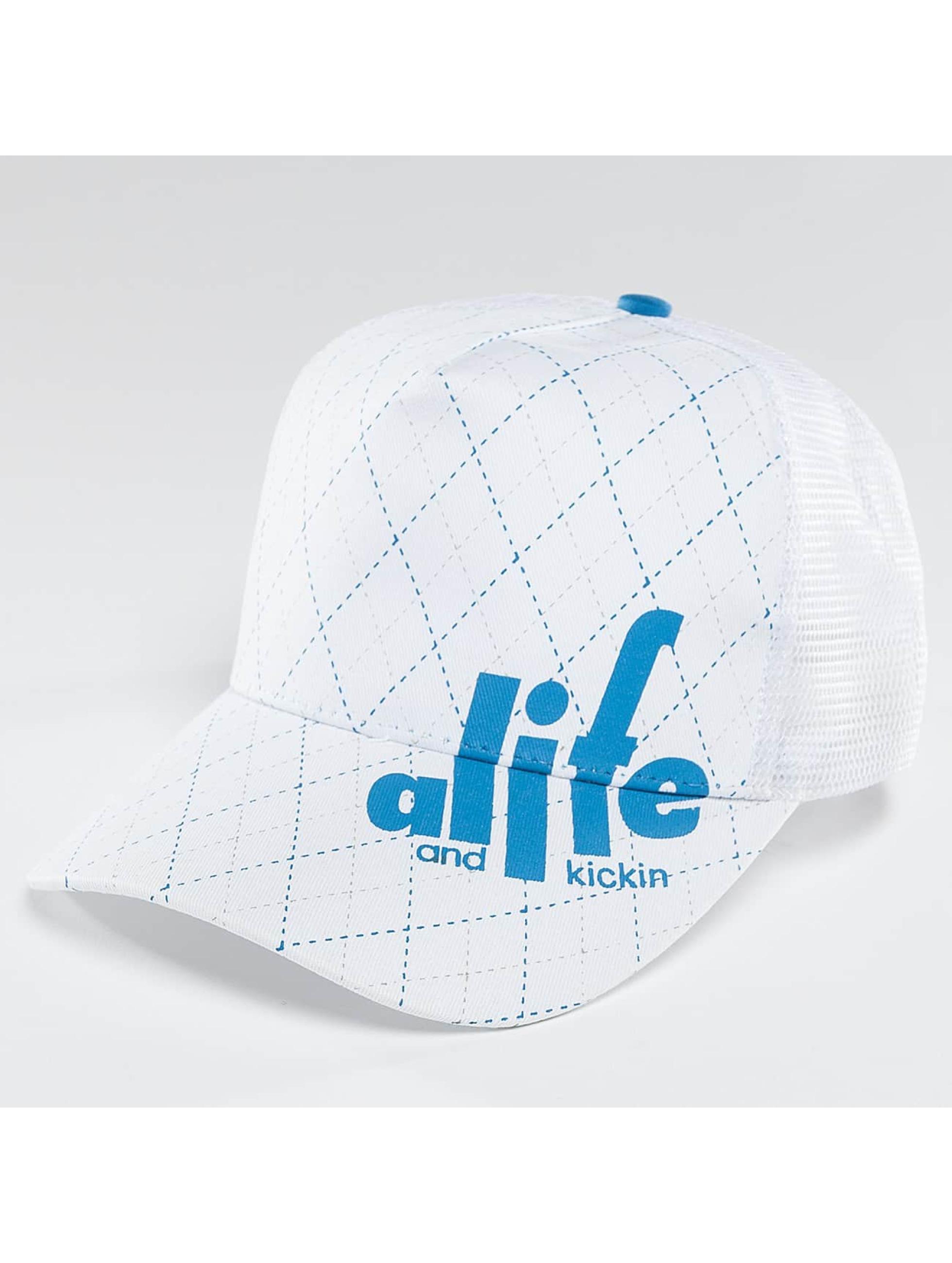 Alife & Kickin Trucker Cap Squares weiß