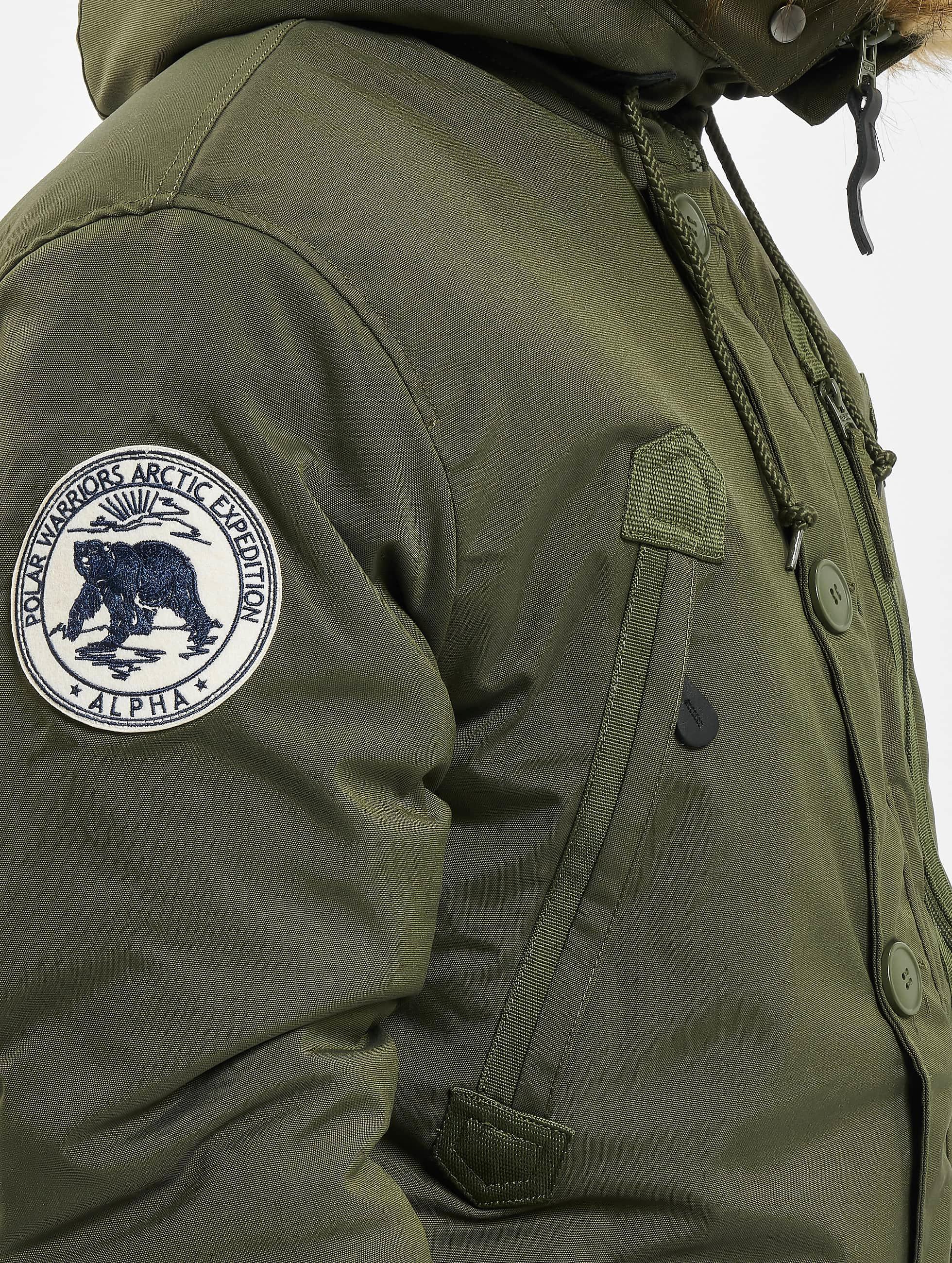 Alpha Industries Зимняя куртка Polar зеленый