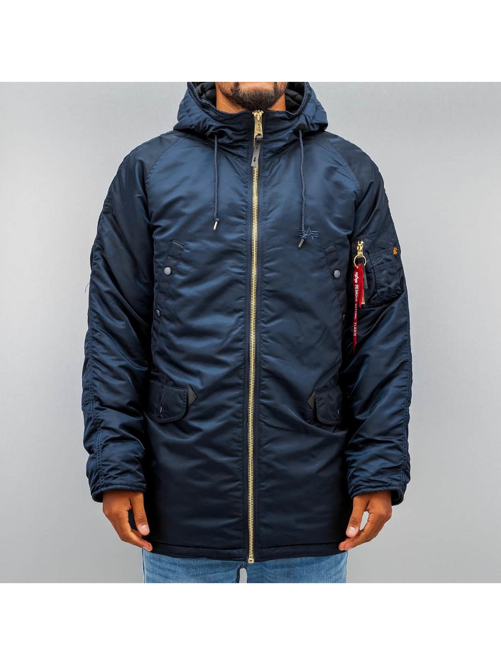 Alpha Industries Зимняя куртка N3-B PM синий