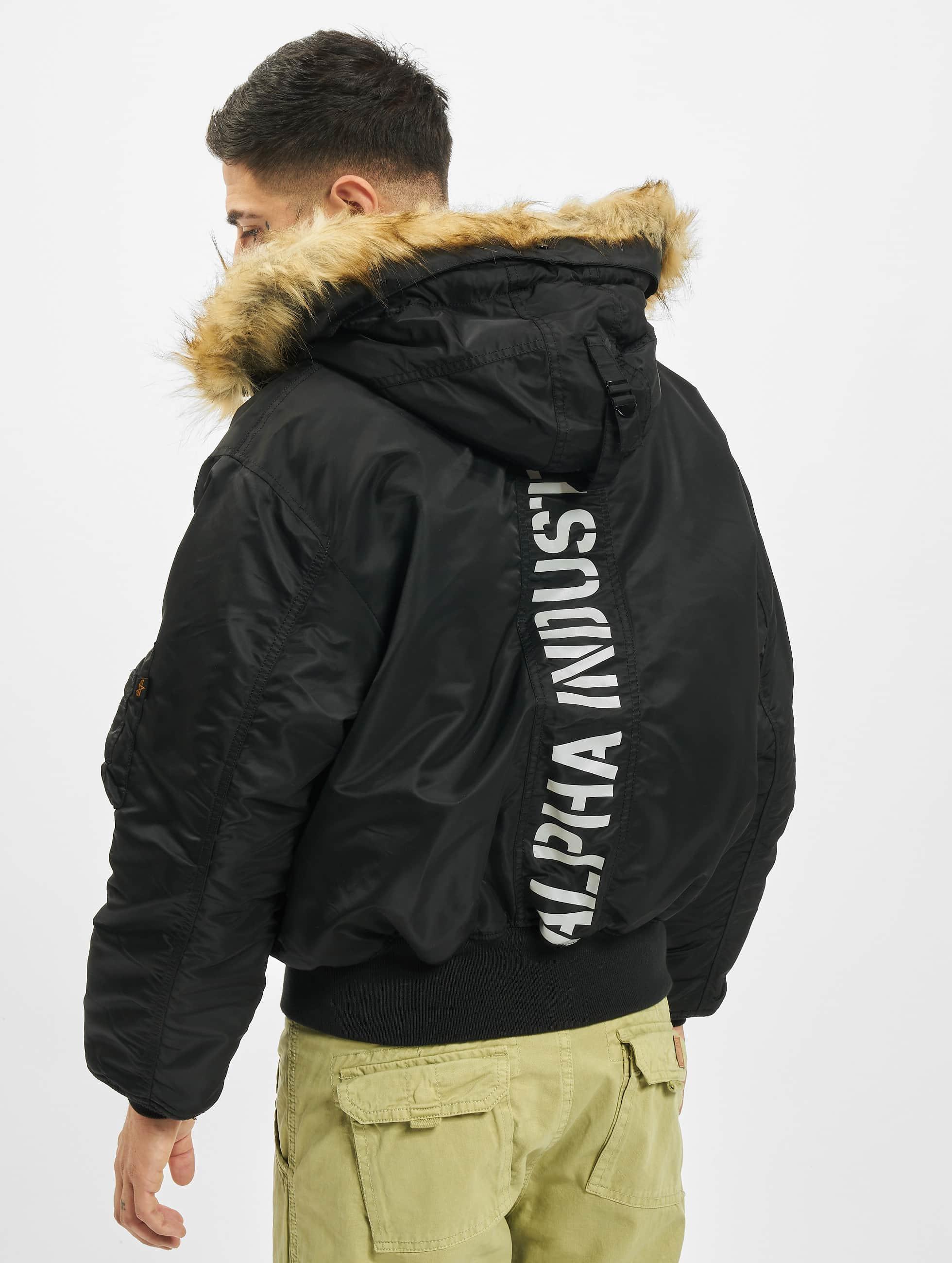 Alpha Industries Зимняя куртка 45P Hooded Custom черный