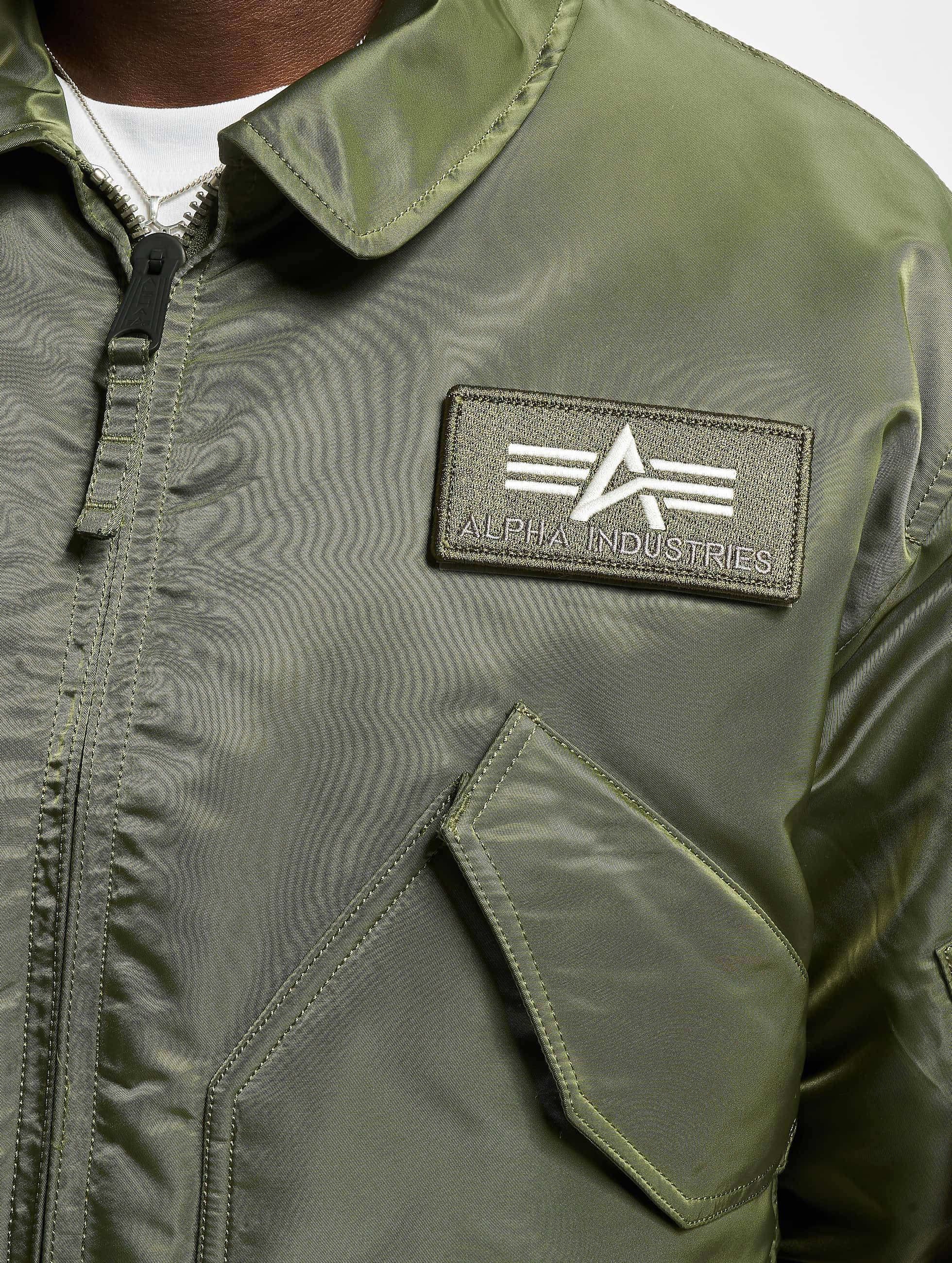 Alpha Industries Куртка-бомбардир CWU/45P Flight зеленый