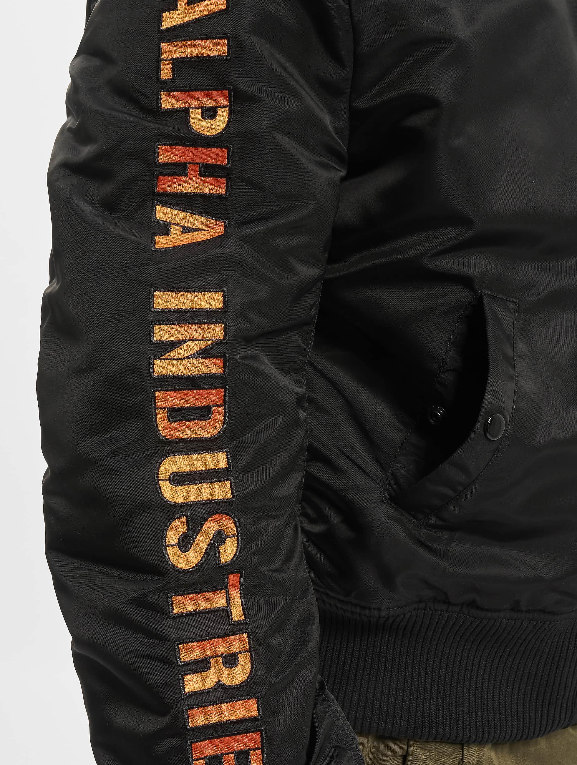 Alpha Industries Куртка-бомбардир MA-1 D-Tec SE черный