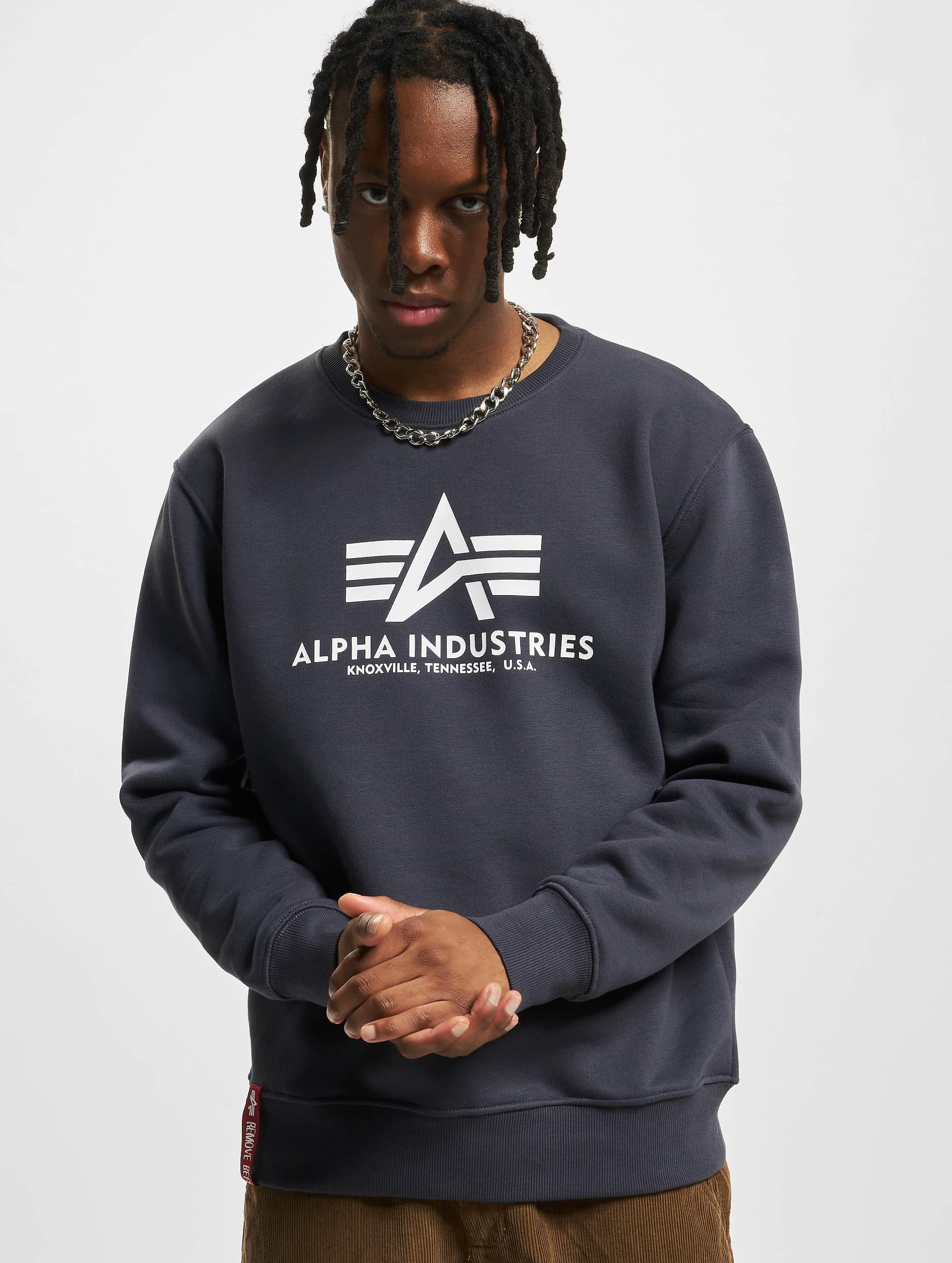 Alpha Industries Пуловер Basic синий