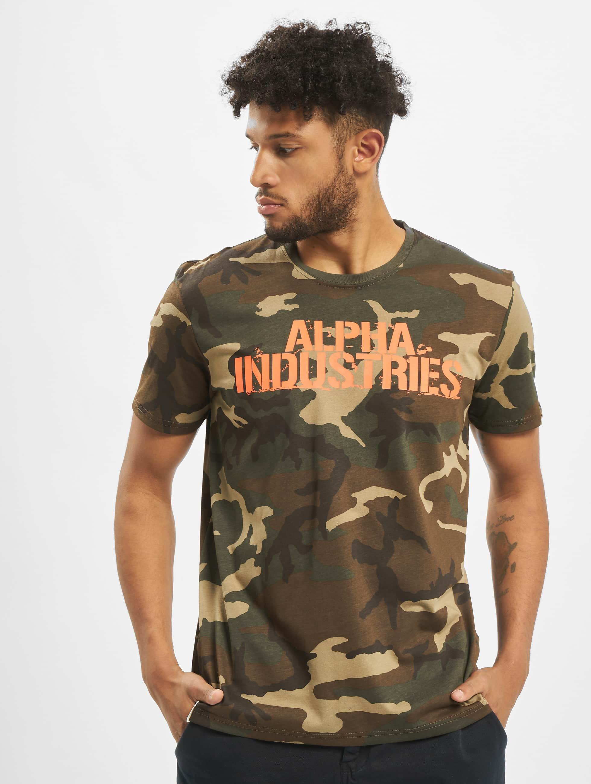 Alpha Industries Футболка Blurred камуфляж