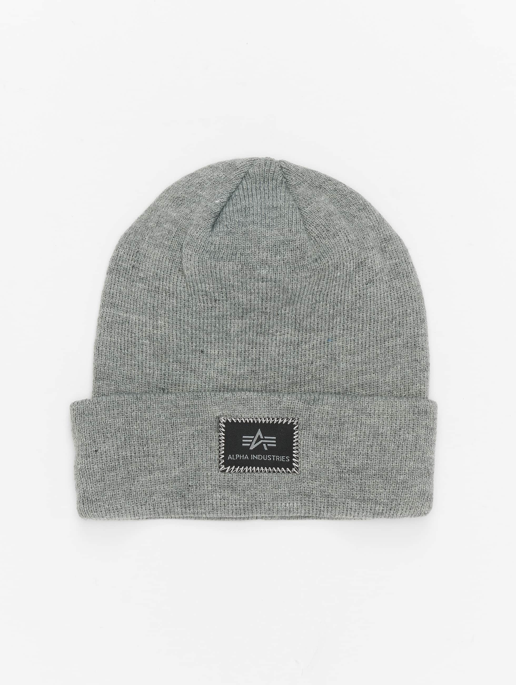 Alpha Industries Beanie X-Fit grau