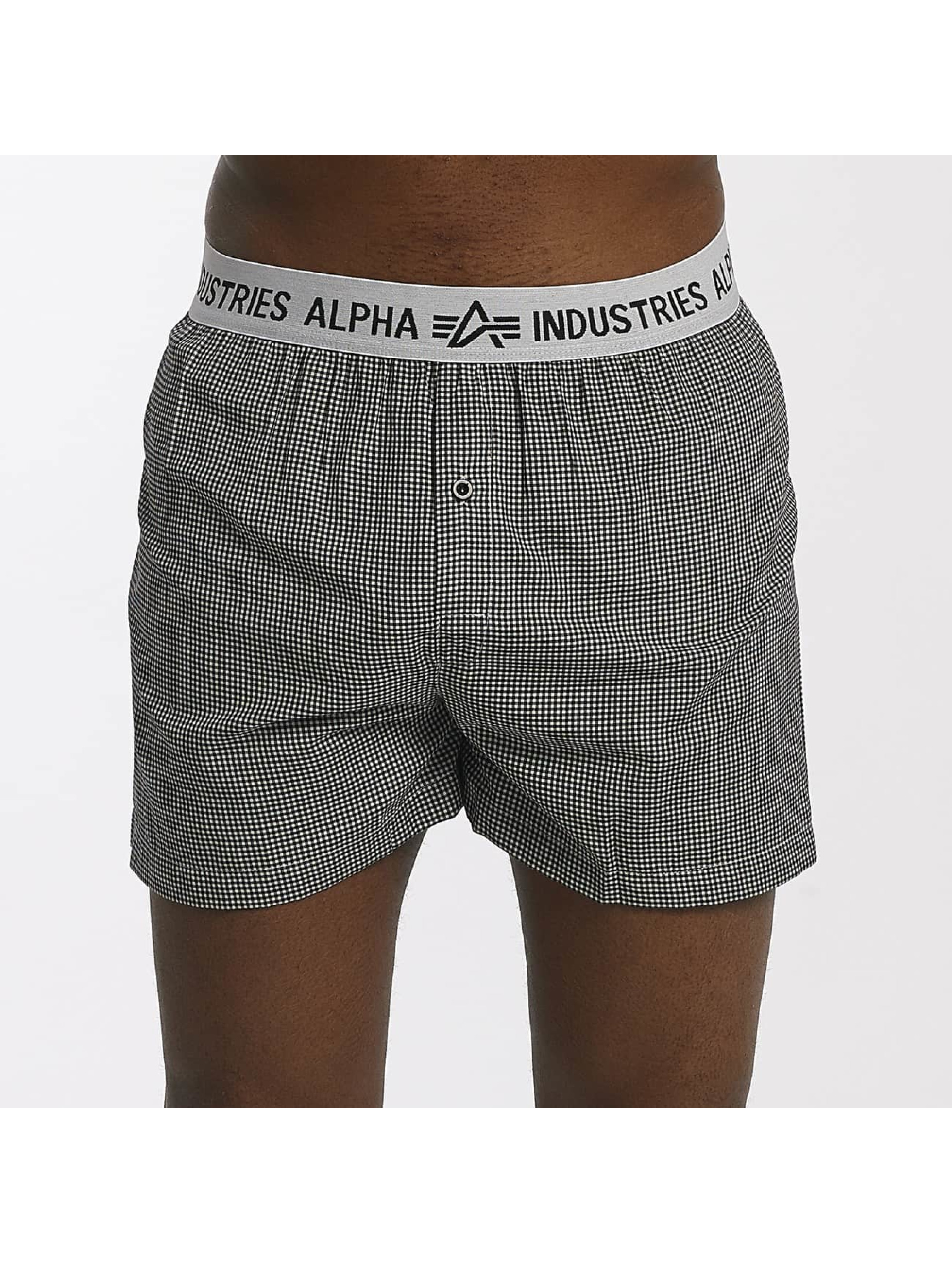 Alpha Industries Boksershorts Checked svart