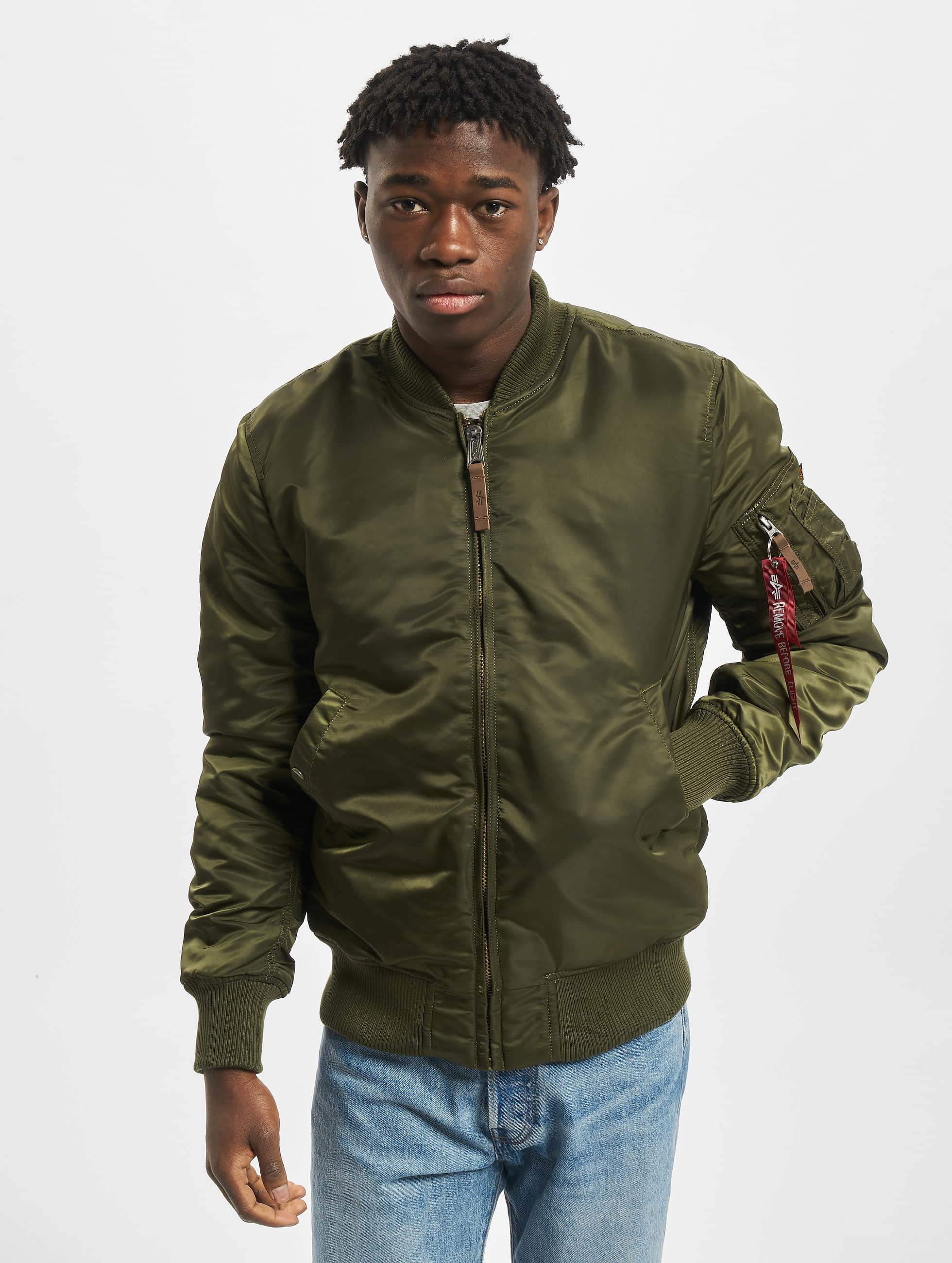 Alpha Industries Bomberjacke MA-1 VF 59 Long grün