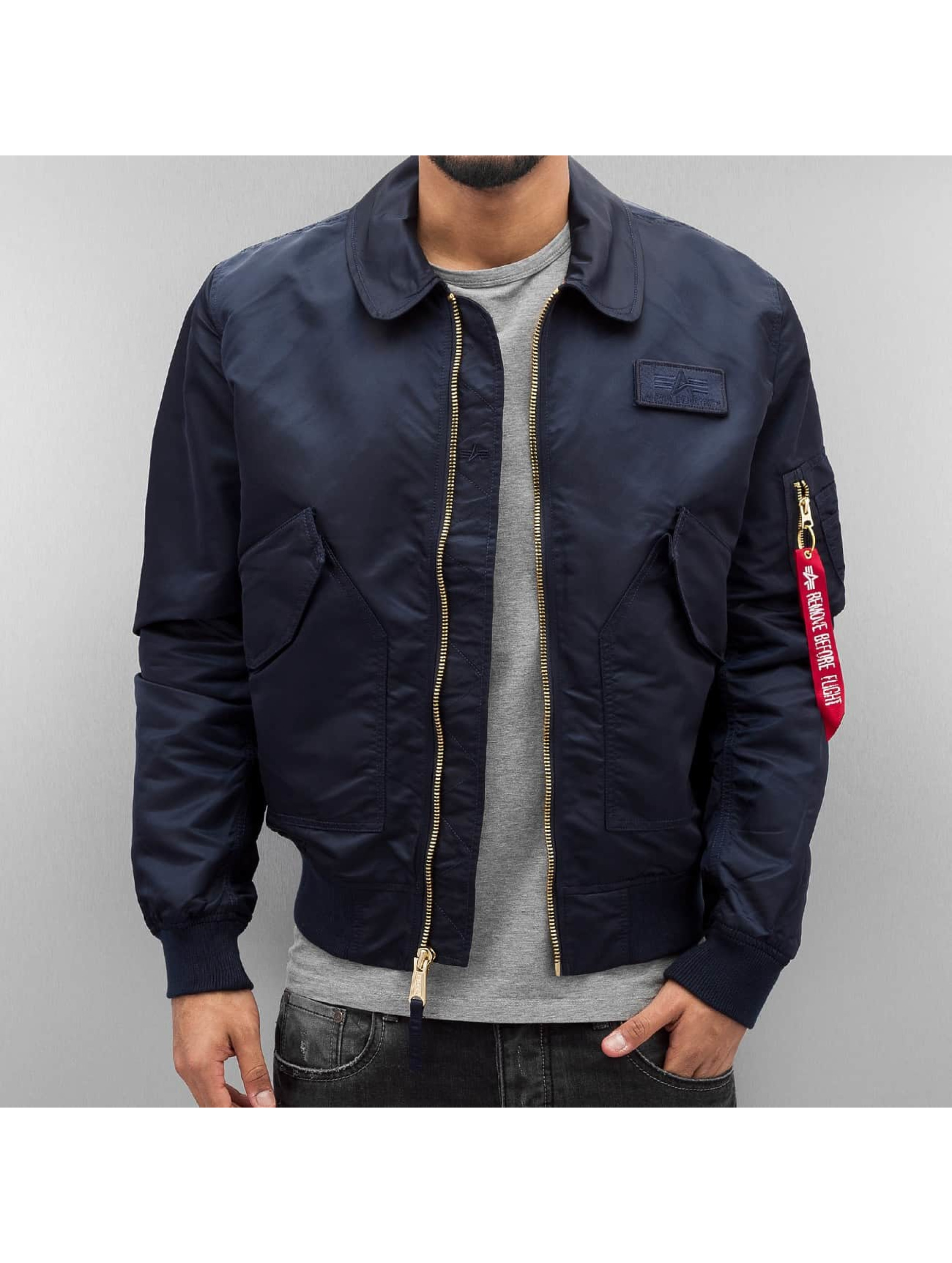 Alpha Industries Bomberová bunda CWU LW PM modrá
