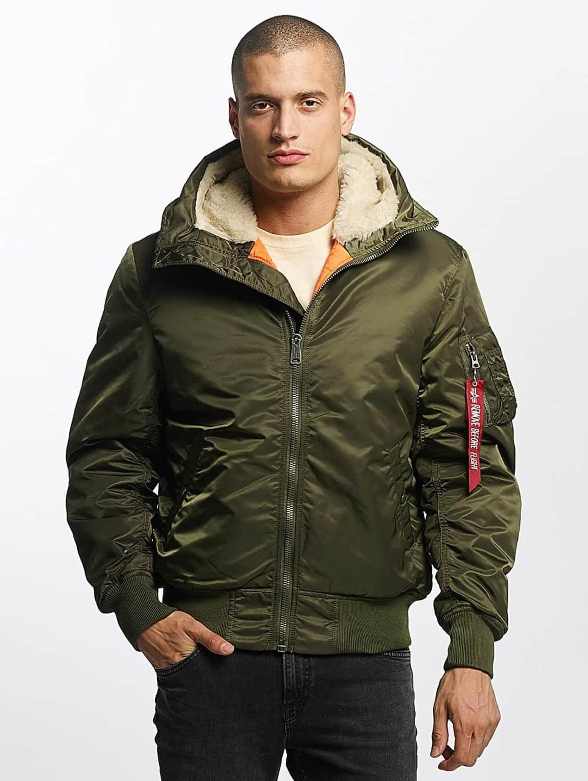 Alpha Industries Bomberová bunda MA-1 Hooded zelená