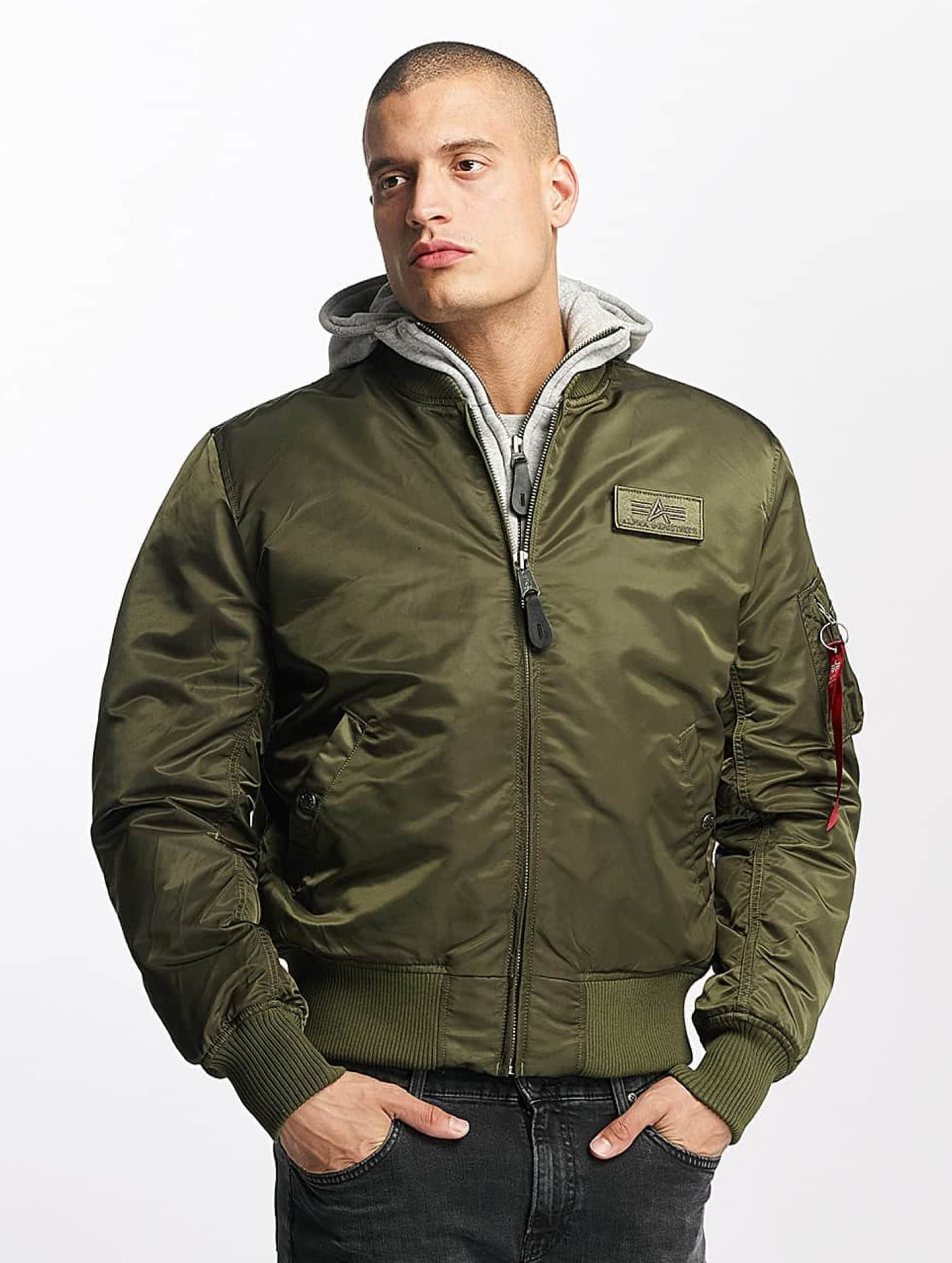 Alpha Industries Bomberová bunda MA-1 D-Tec Flight zelená