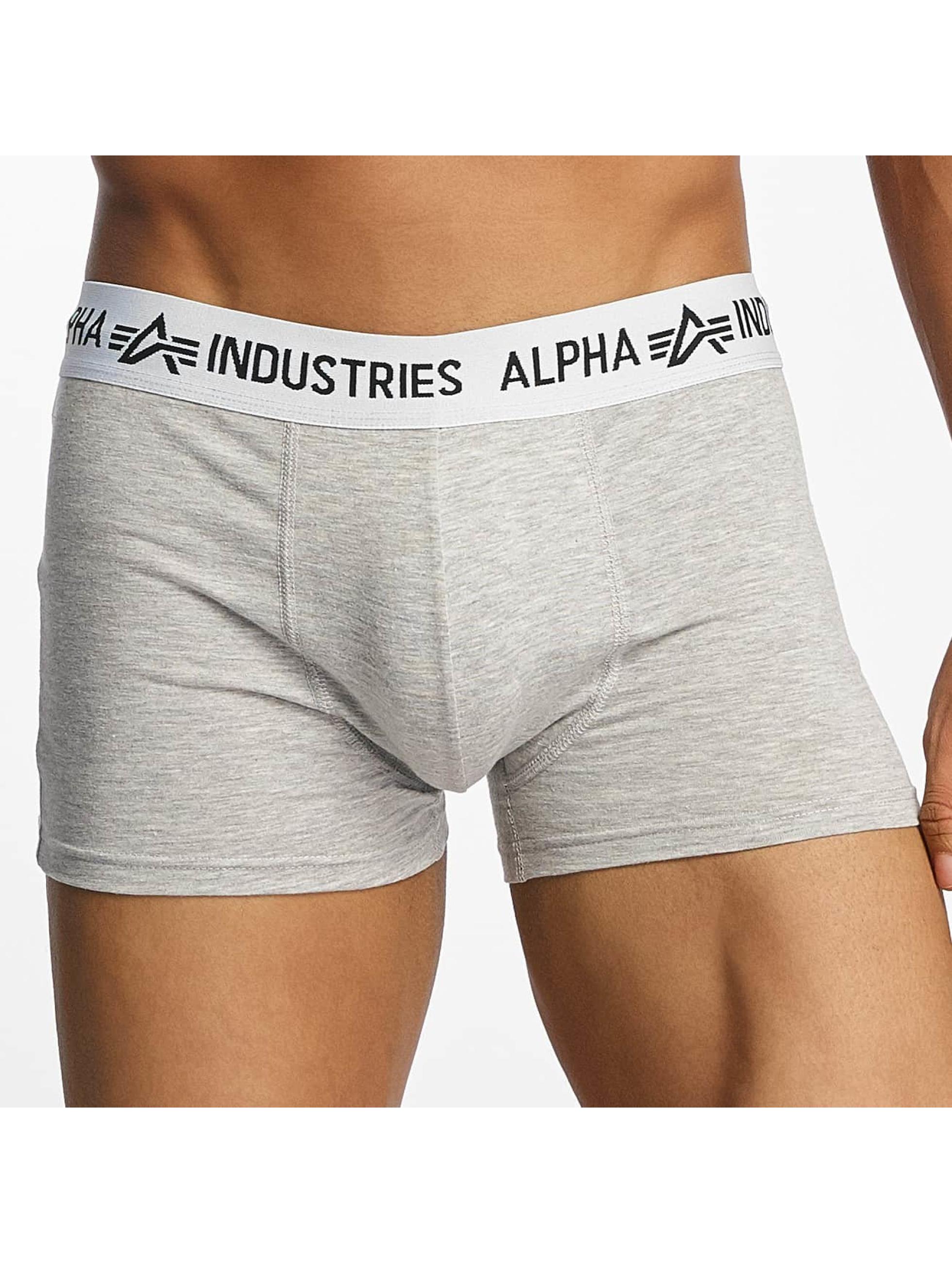 Alpha Industries Boxershorts Trunk grau