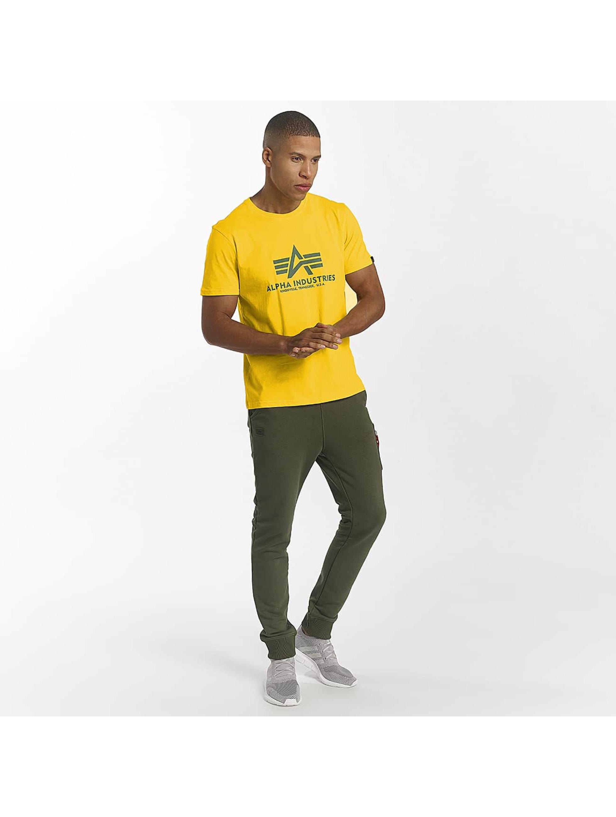 Alpha Industries Camiseta Basic amarillo